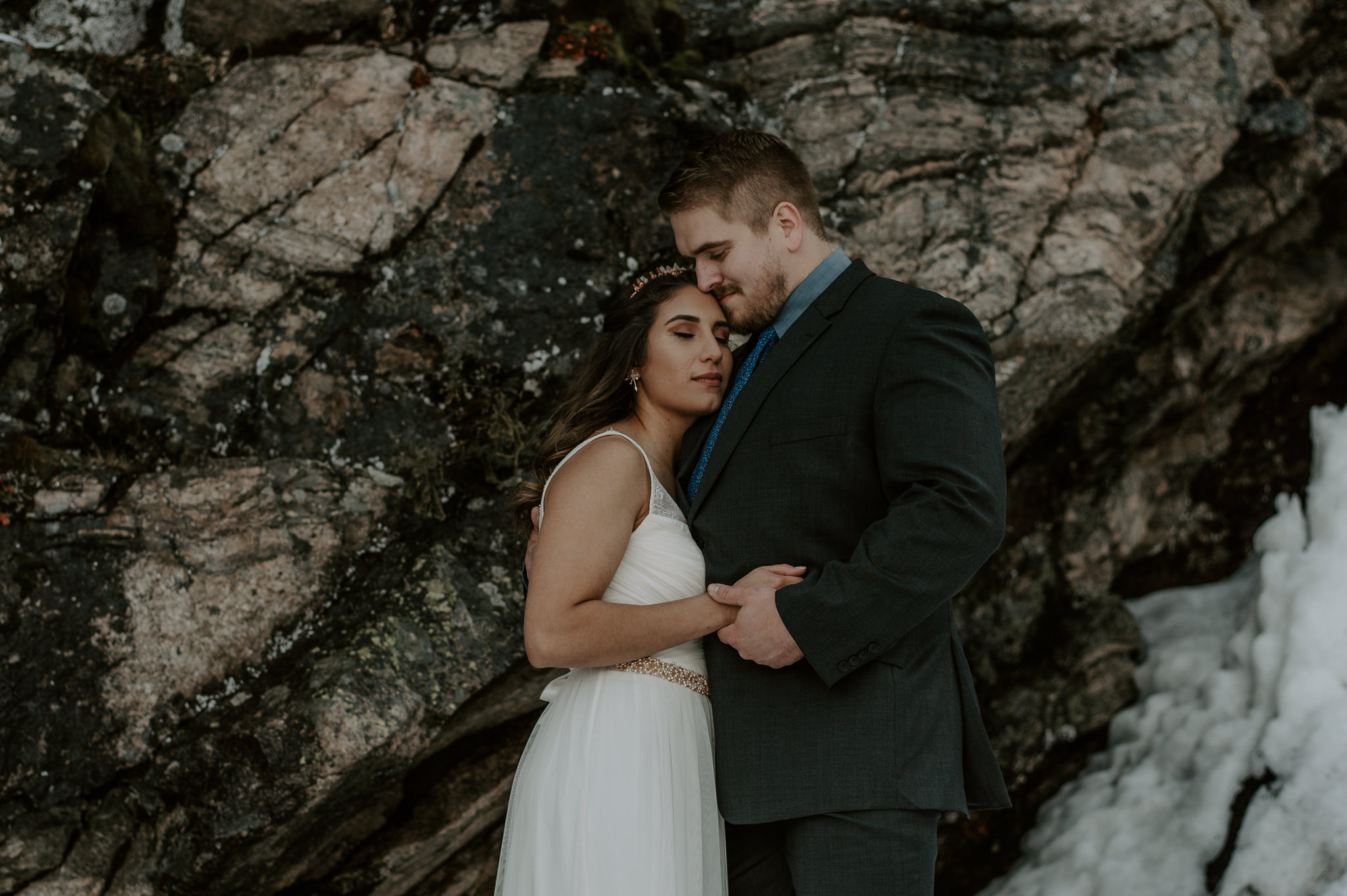 Colorado mountain adventure elopement photography