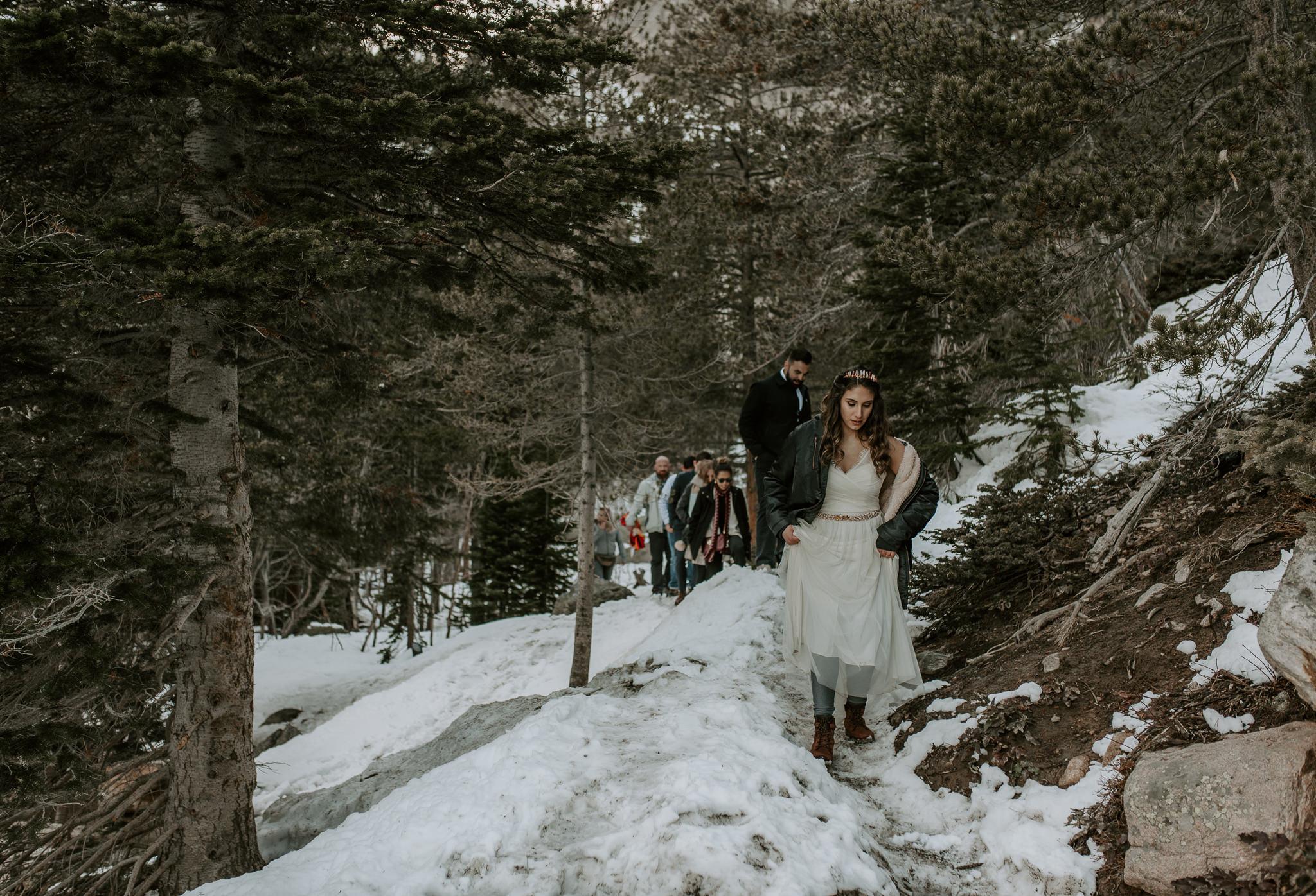 Hiking adventure wedding in Colorado