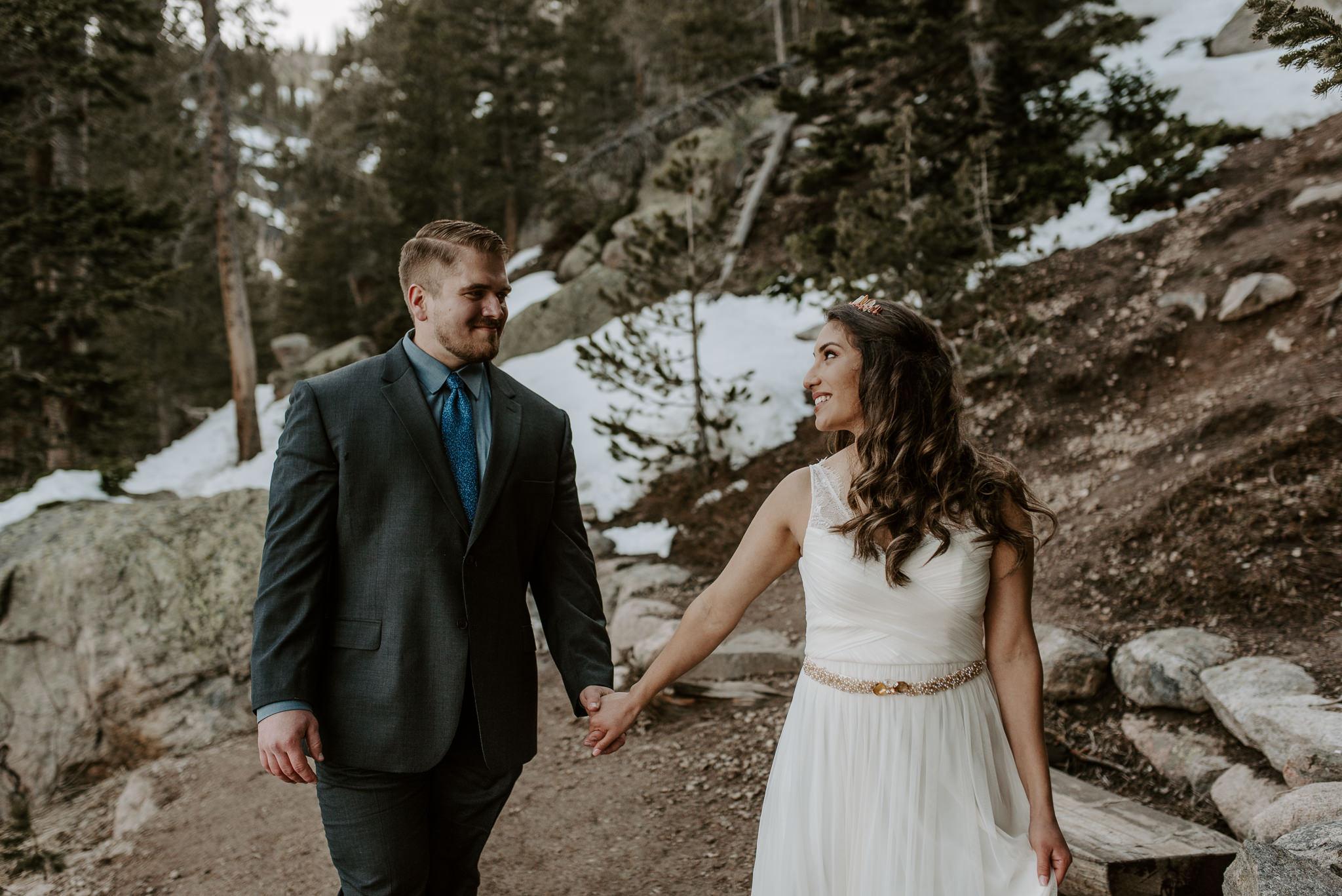 Mountain wedding photographer in Denver, Colorado