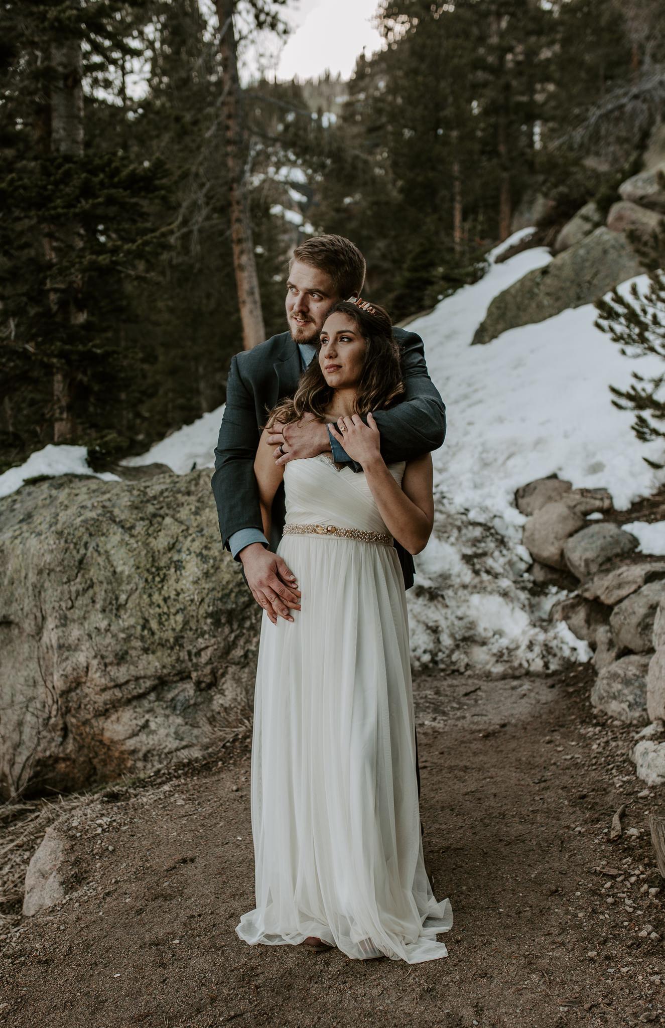 Winter wedding, Rocky Mountain National Park
