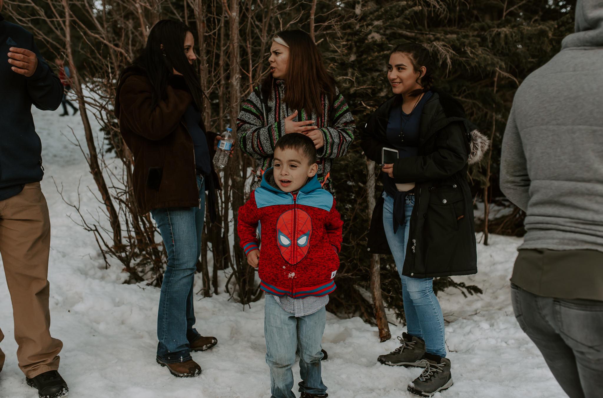 Colorado intimate wedding photos at Bear Lake