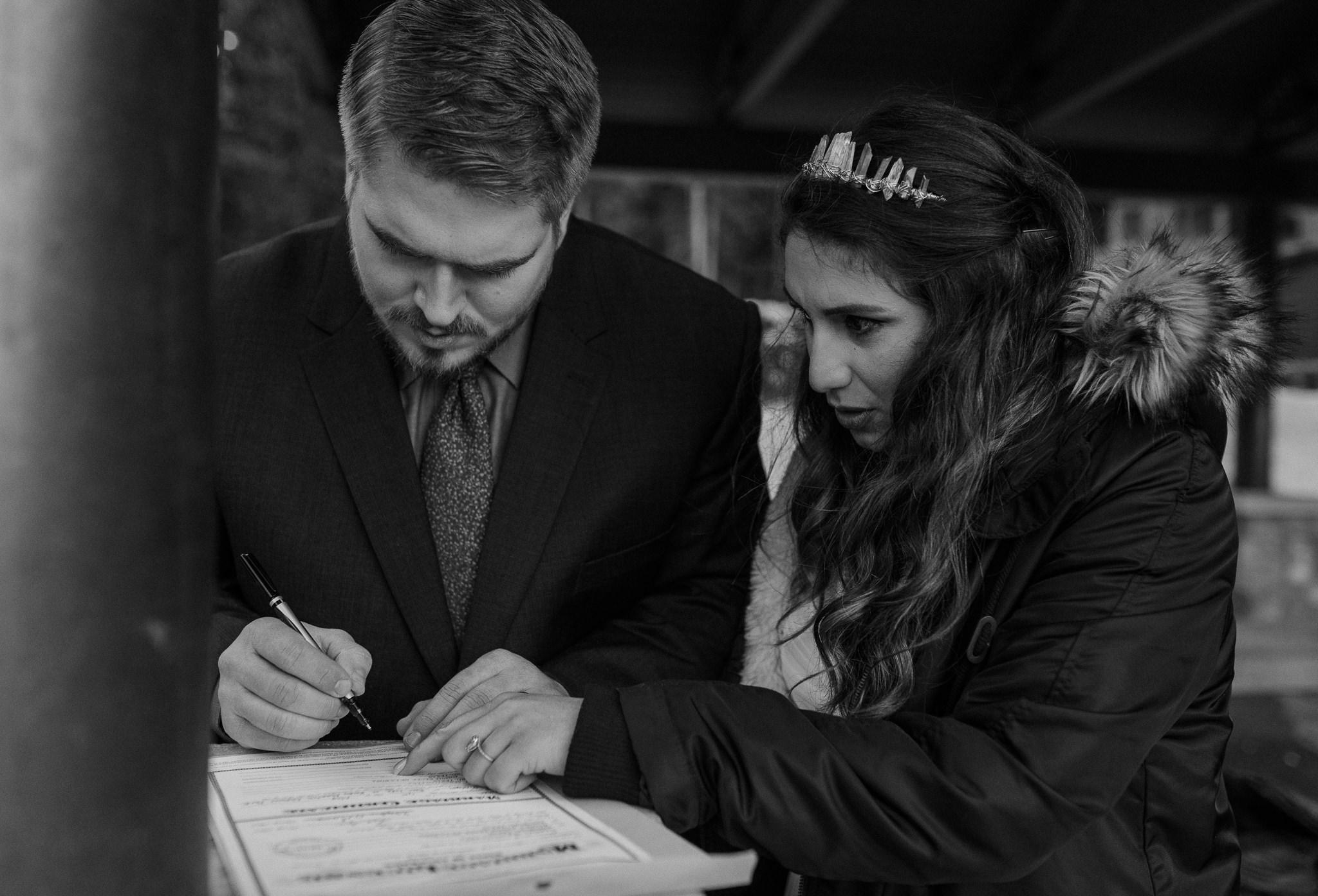 Intimate wedding at Bear Lake in RMNP photos