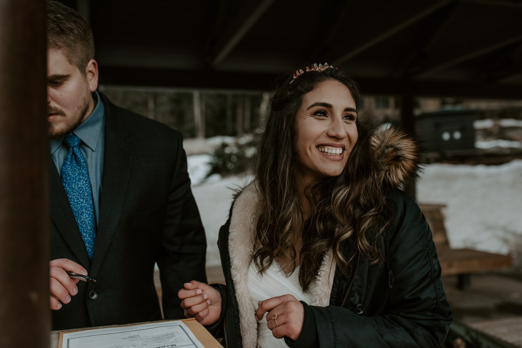 Colorado intimate wedding photography. Bear Lake elopement in Rocky Mountain National Park