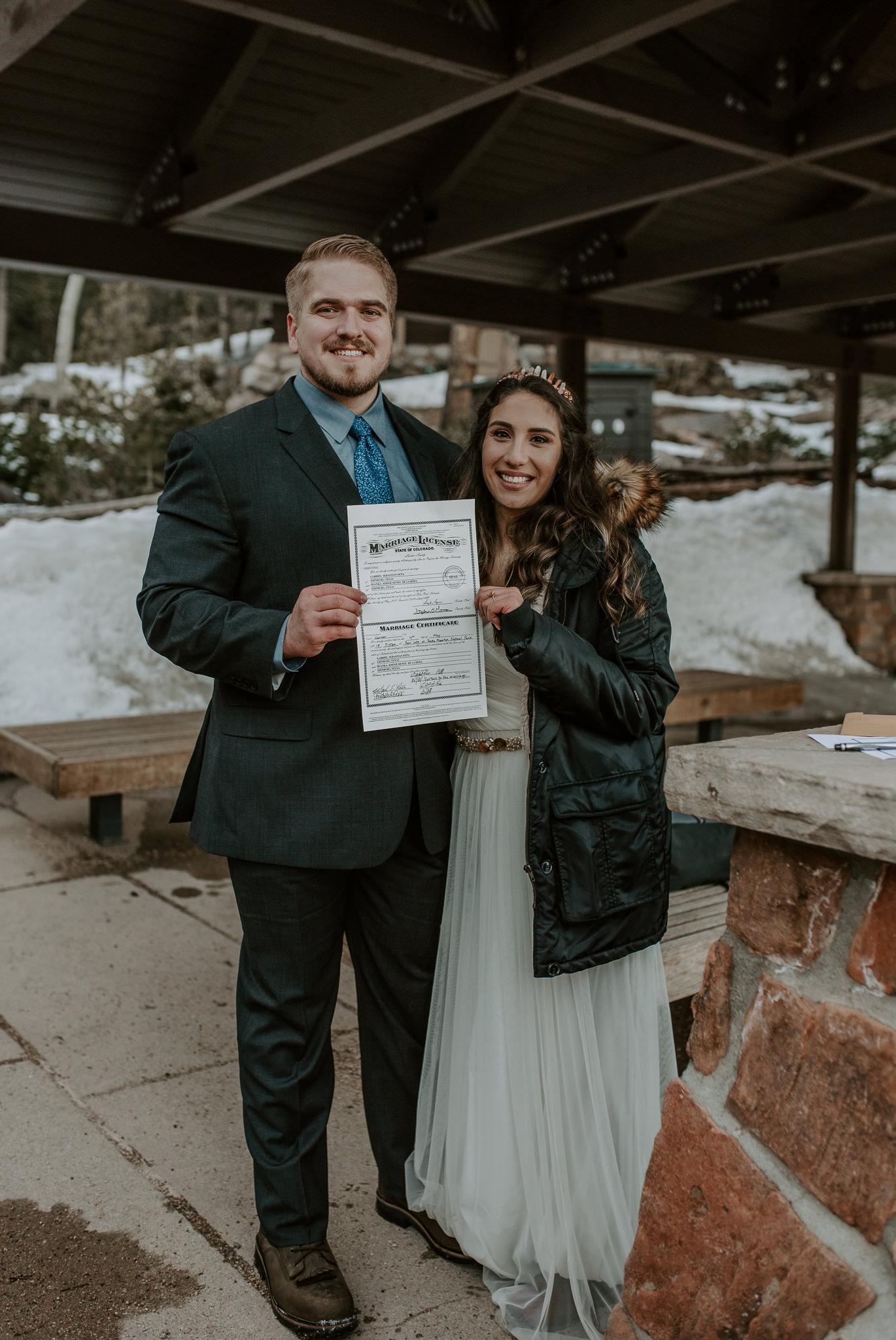 Bear Lake intimate wedding in Rocky Mountain National Park