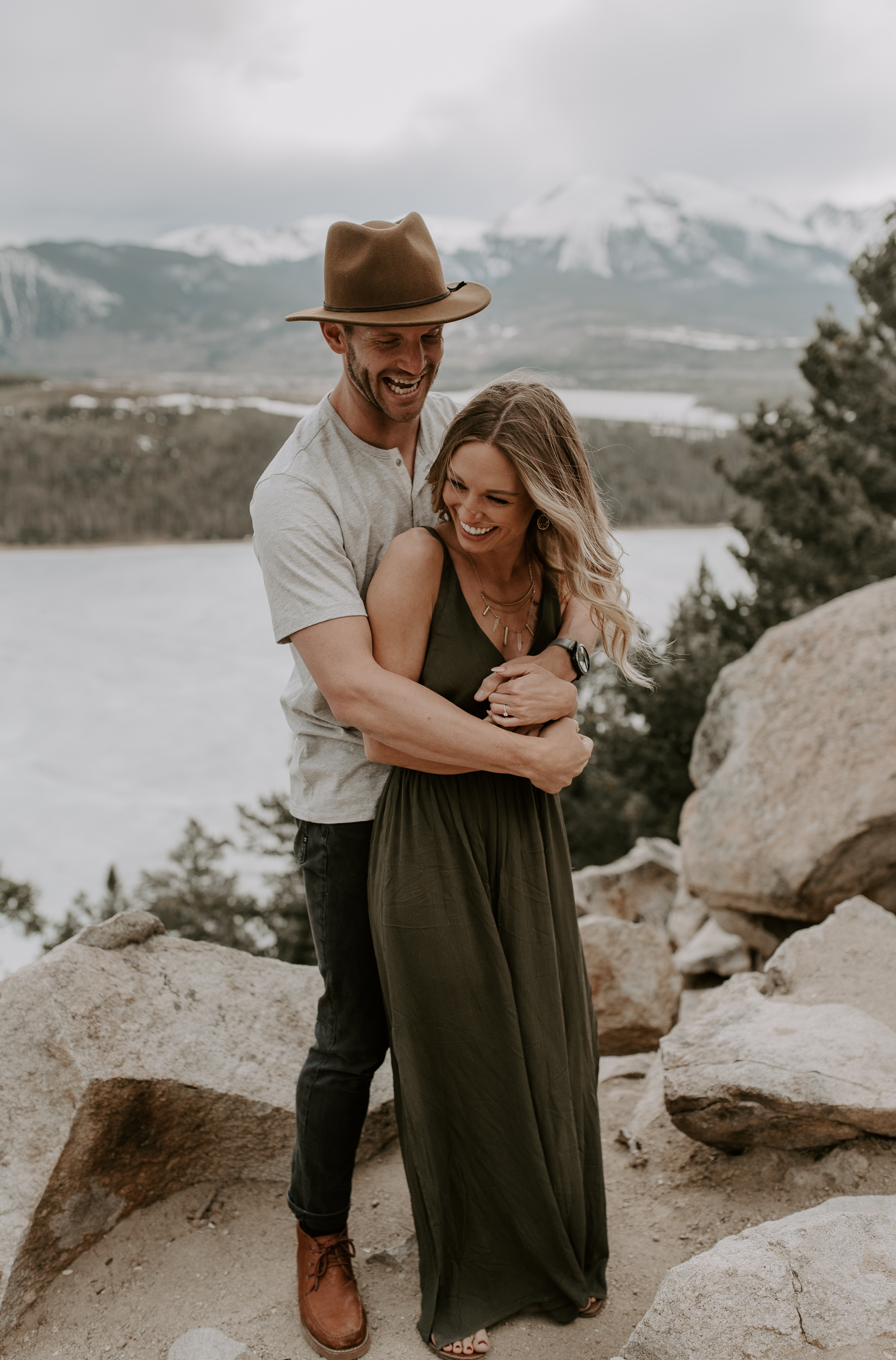 Mountain engagement session at Sapphire Point in Dillon, Colorado. Colorado wedding photographer