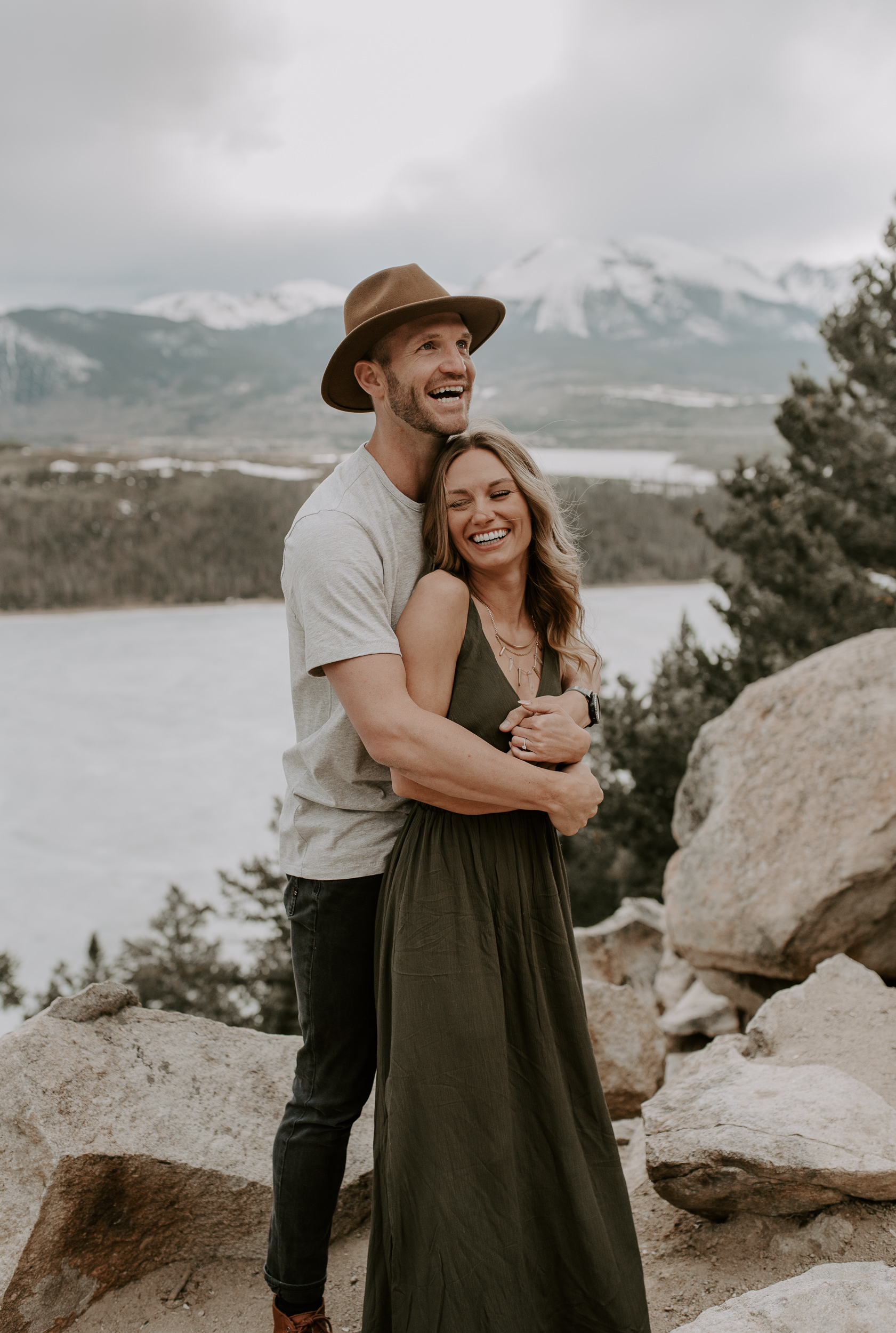 Breckenridge, Colorado engagement session at Sapphire Point. Colorado elopement and wedding photographer