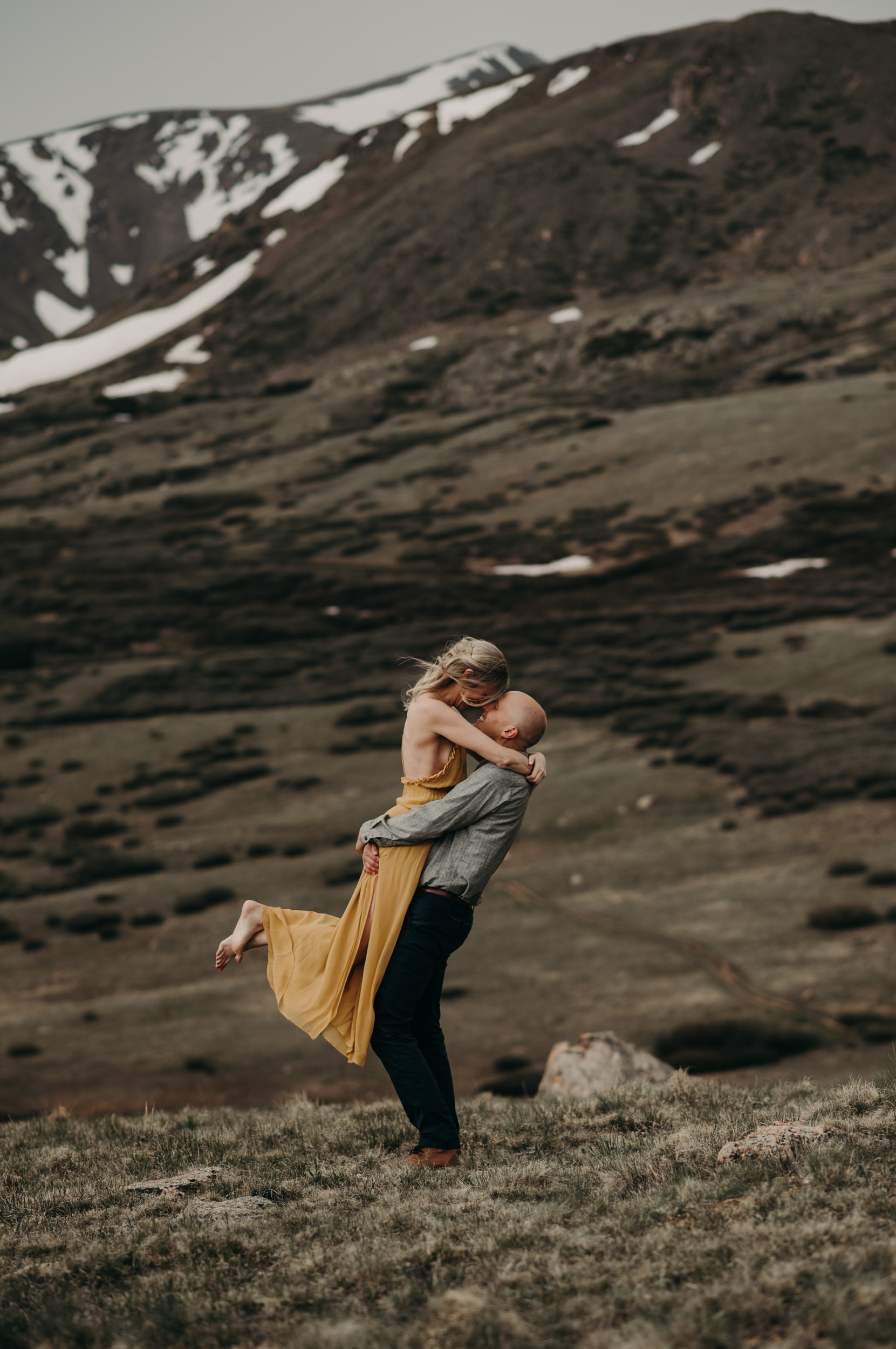 Engagement photos at Guanella Pass in Georgetown, Colorado. Colorado wedding and elopement photographer.
