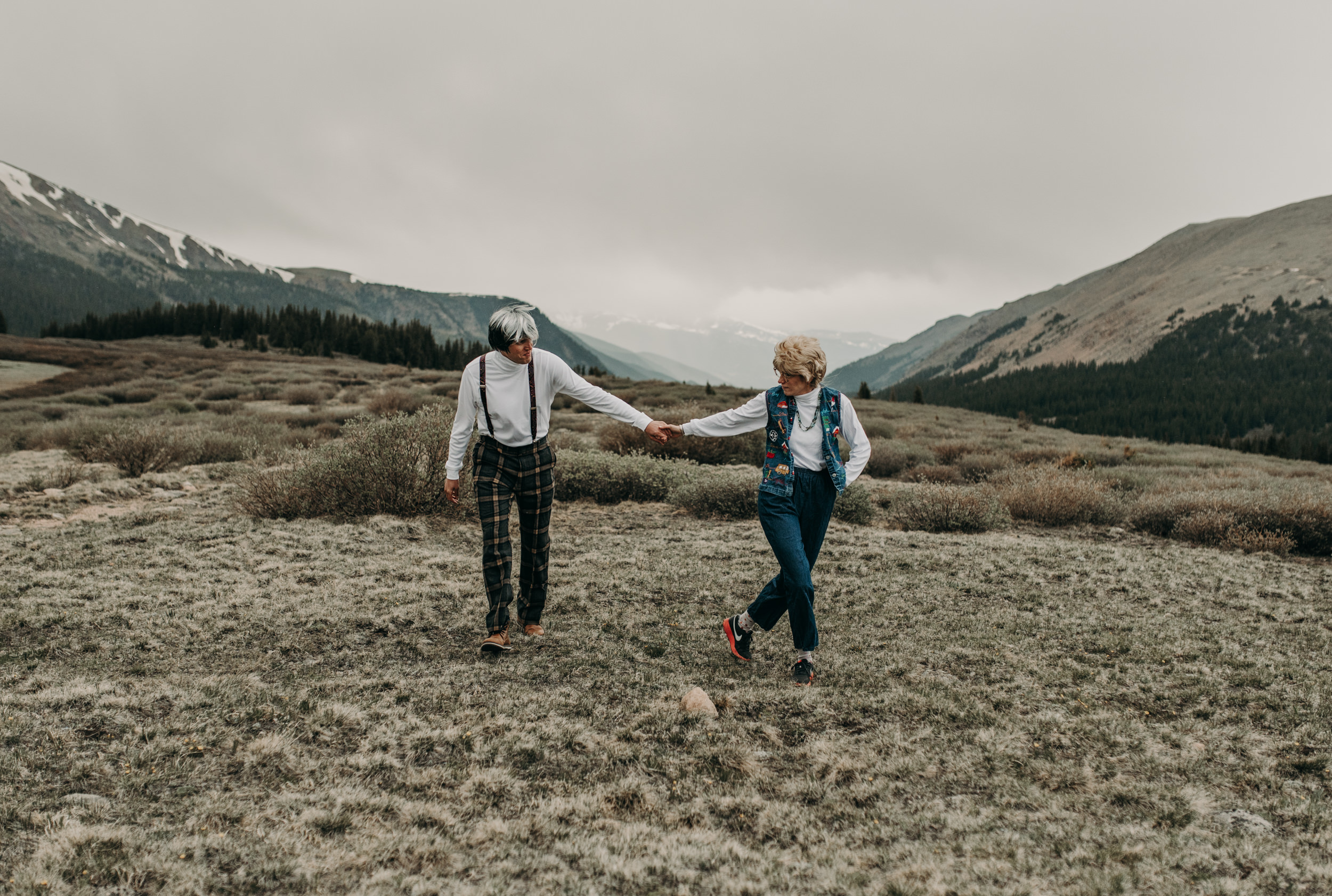 Mountain engagement session in Georgetown, Colorado