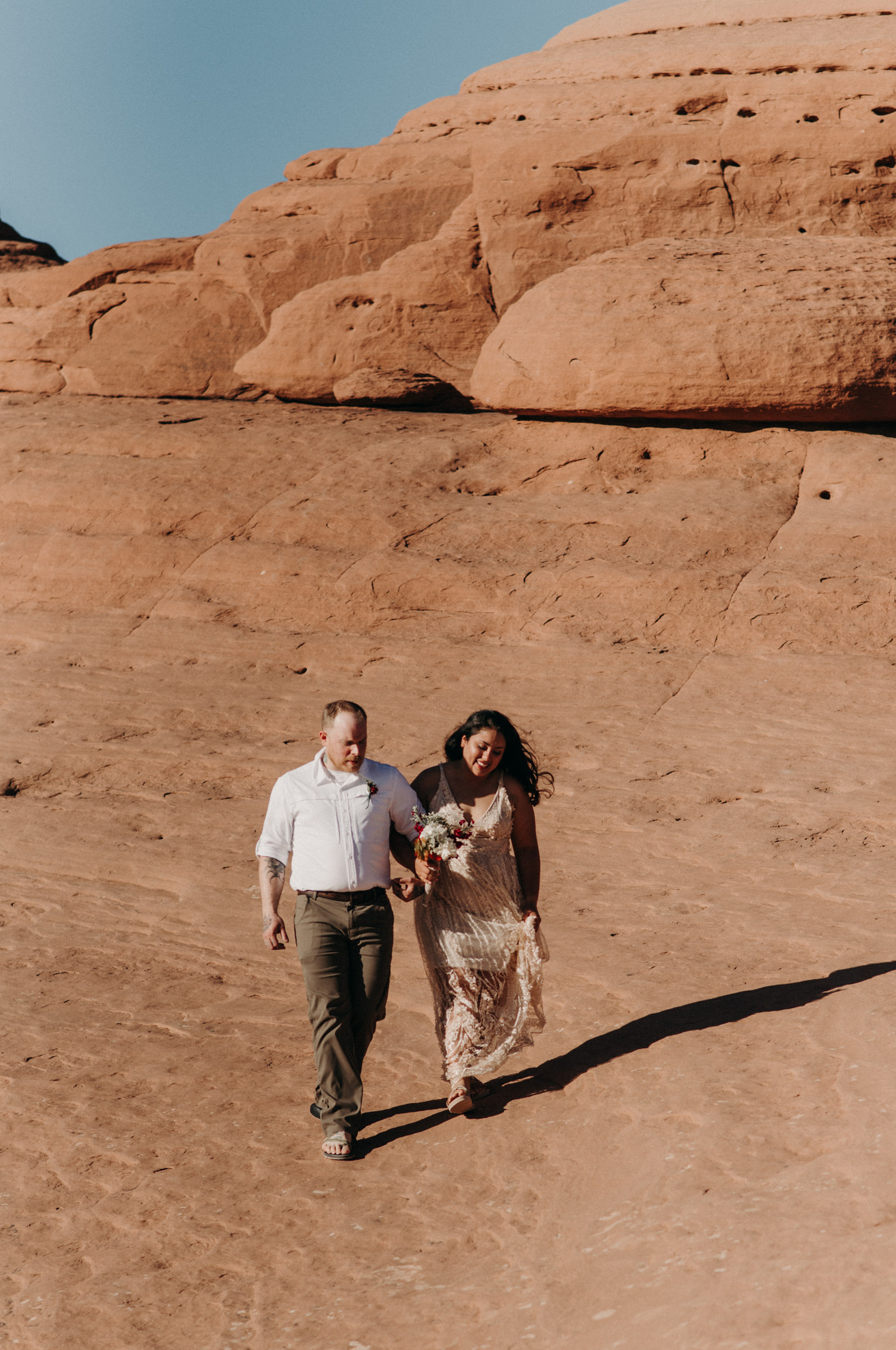 Intimate wedding in Arches National Park