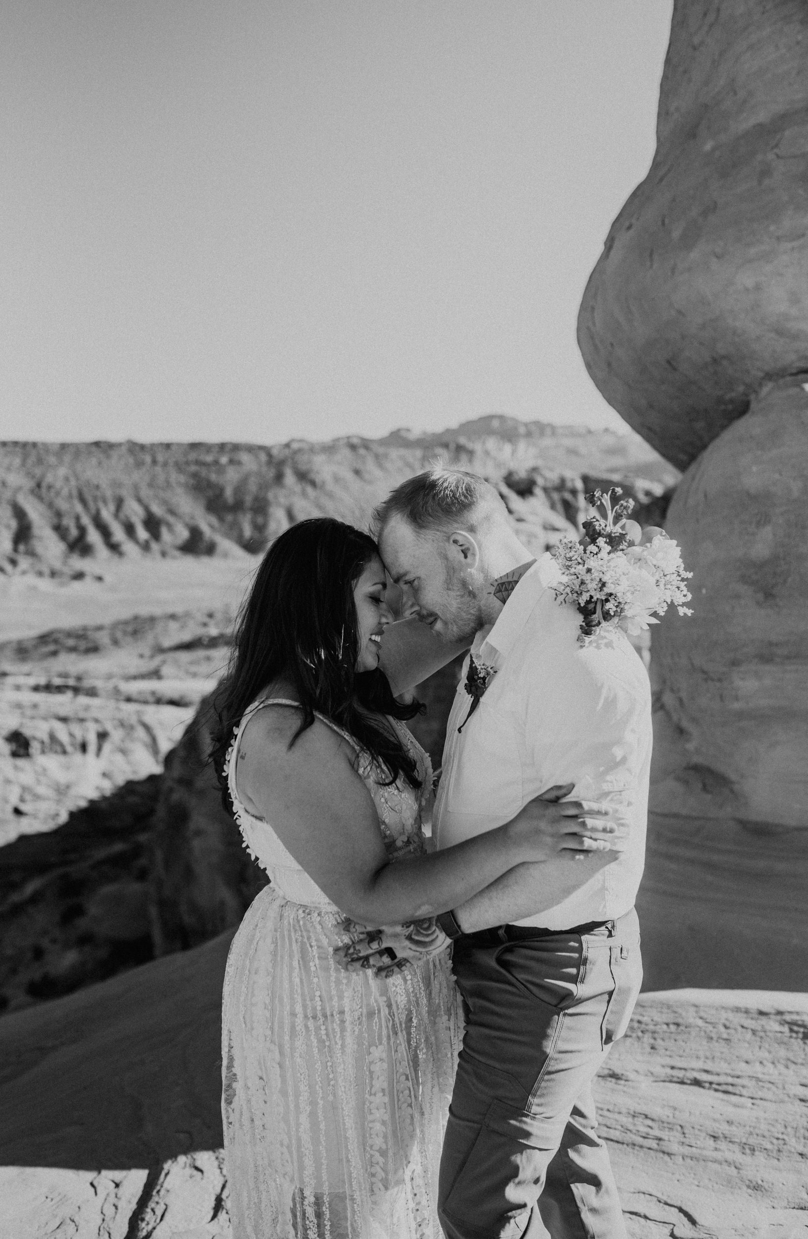 Moab adventure elopement at the Delicate Arch.
