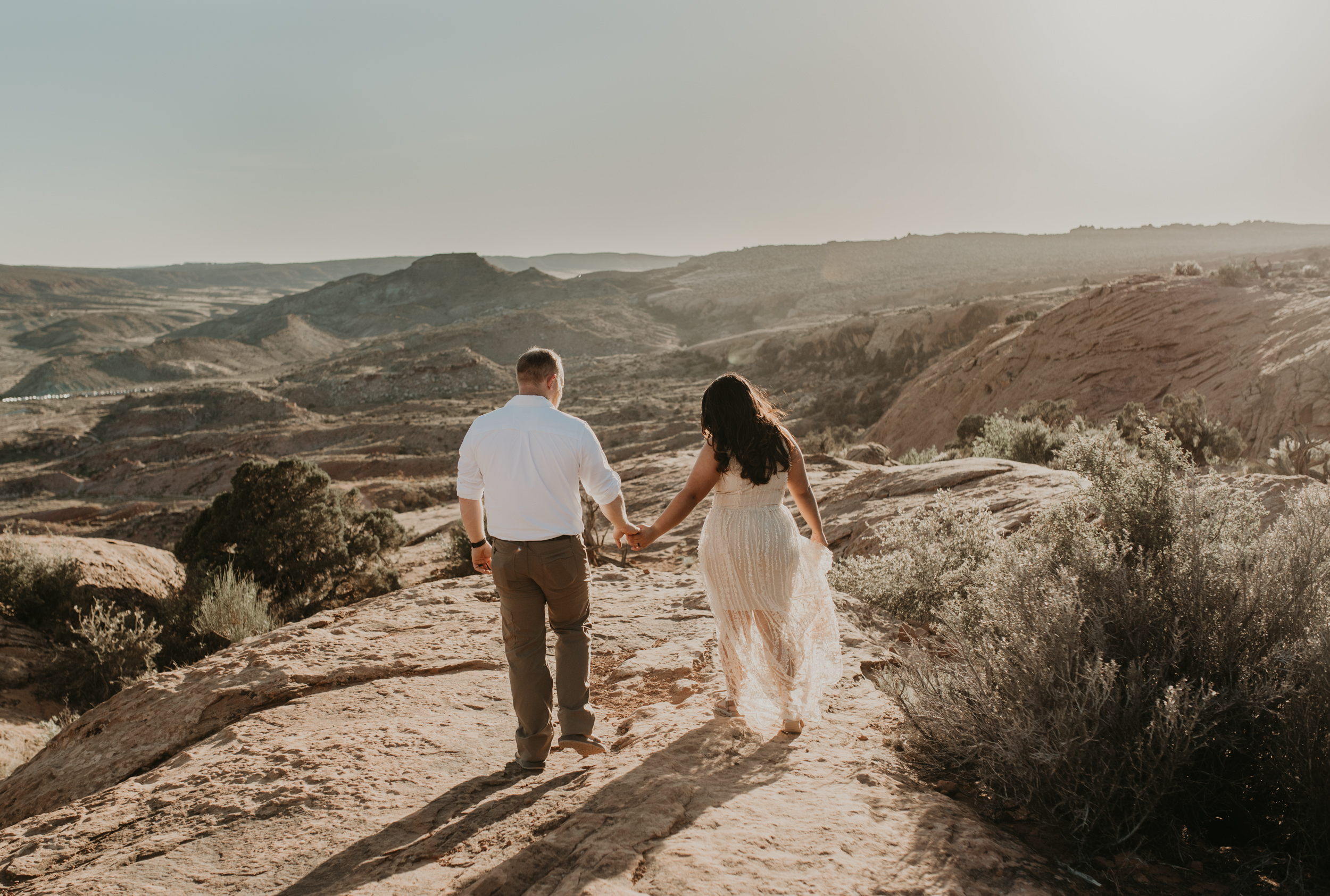 Moab elopement at the Delicate Arch