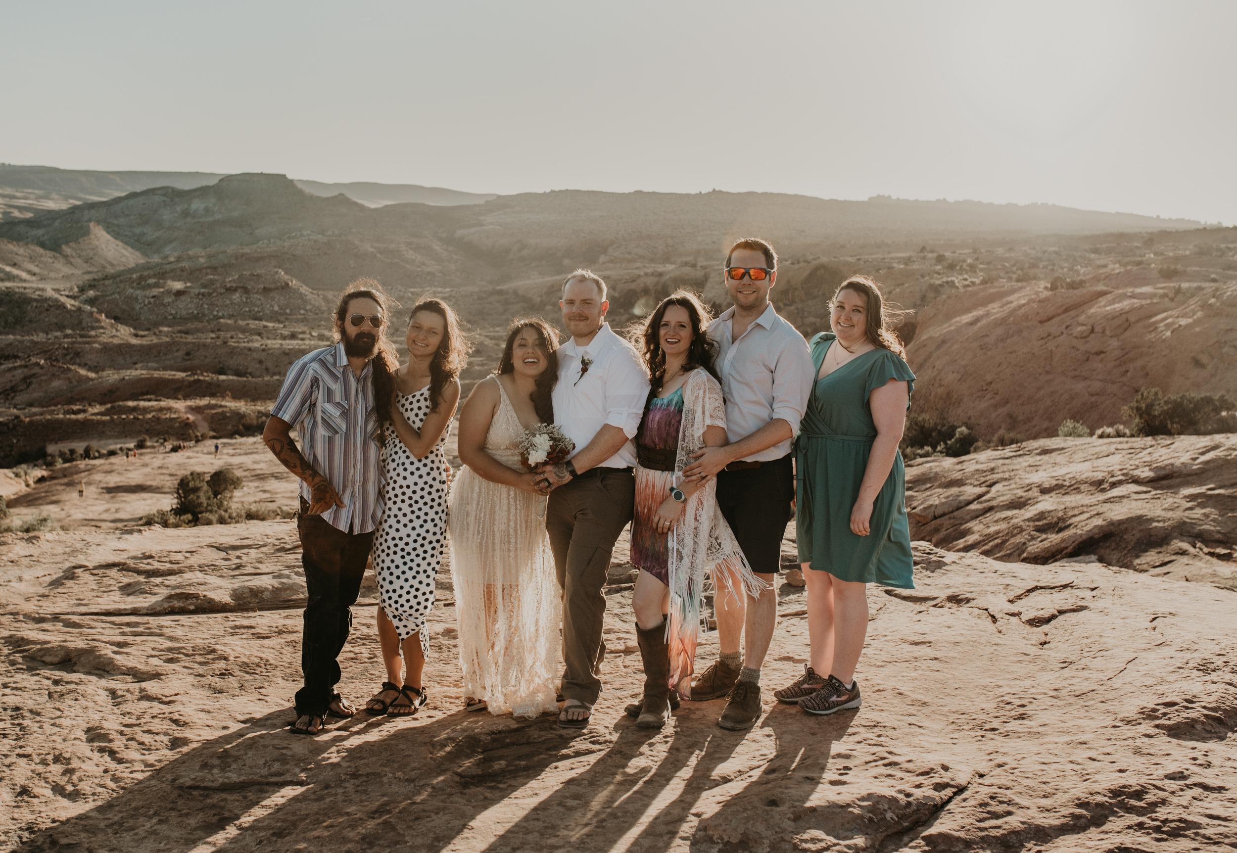 Adventure elopement photographer in Moab