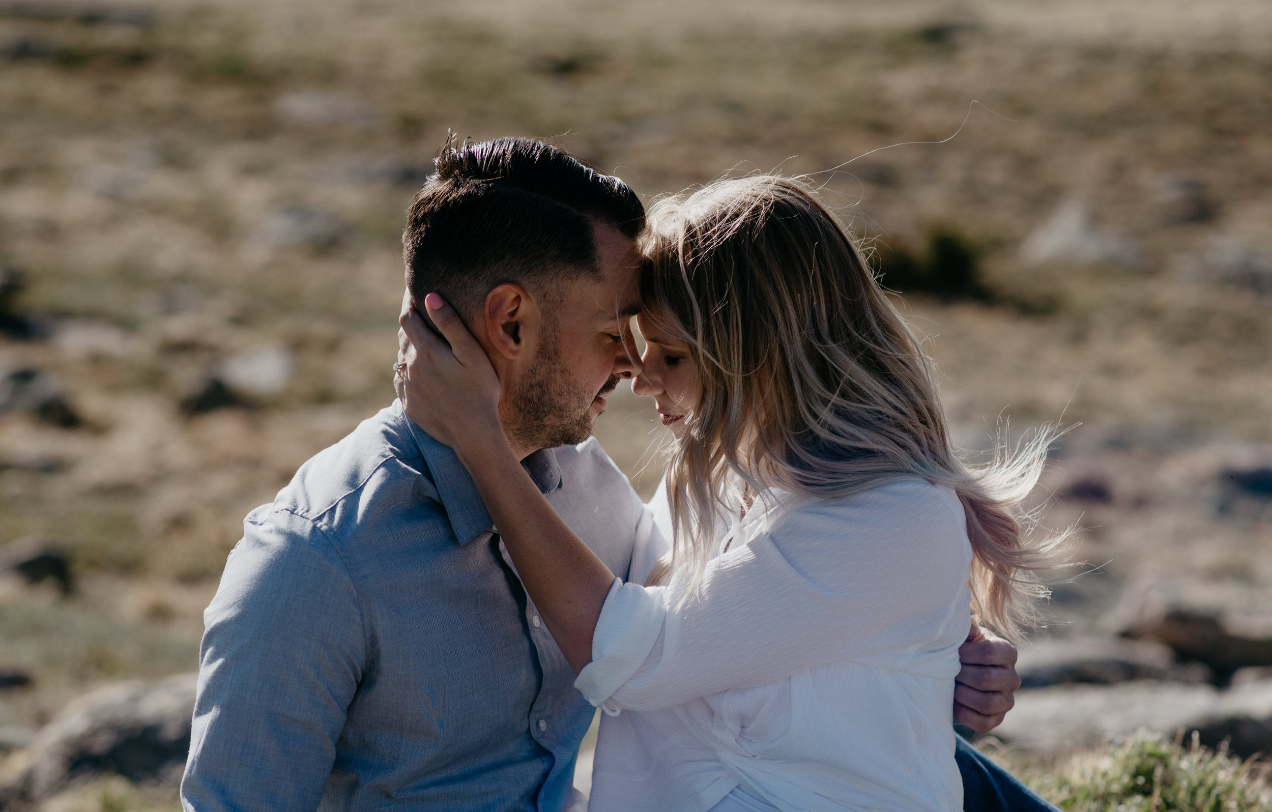 Adventure engagement session in Rocky Mountain National Park. Colorado elopement photographer.