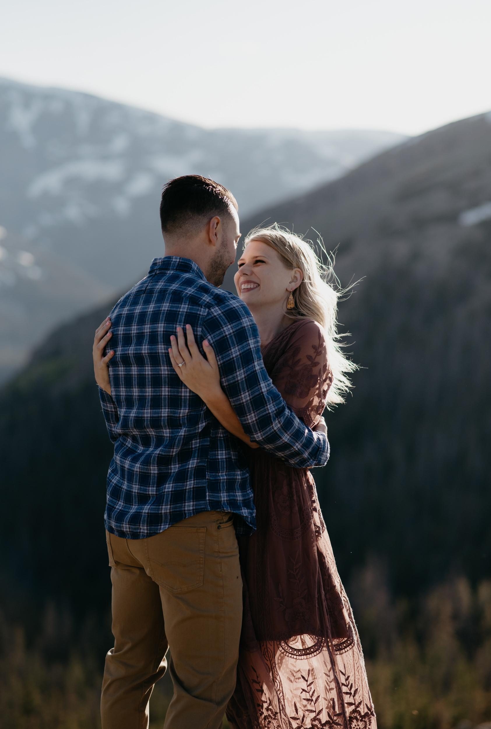 Elopement photos at Rocky Mountain National Park. Colorado wedding photographer.