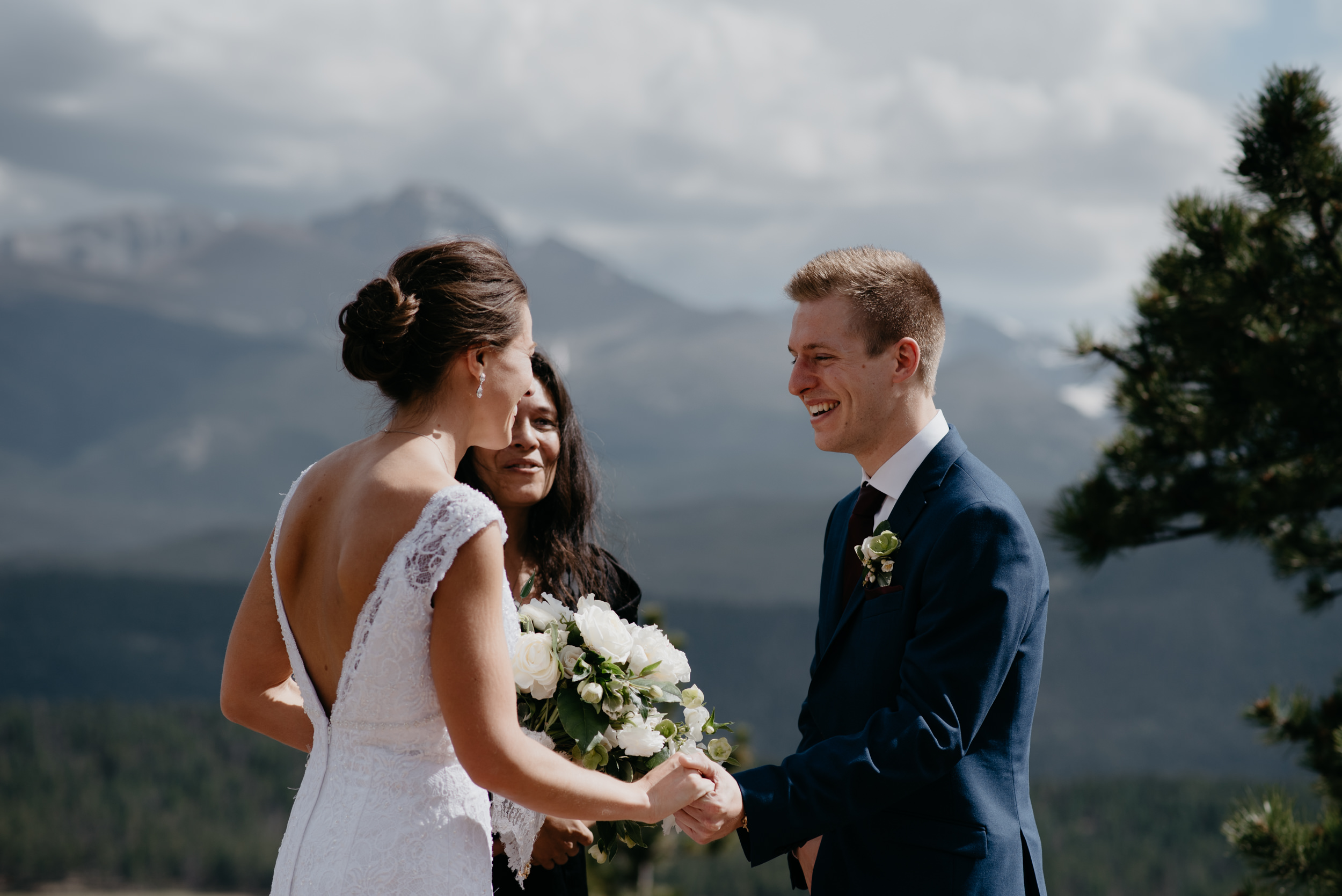 3M Curve, Rocky Mountain National Park elopement ceremony. Colorado wedding photographer.