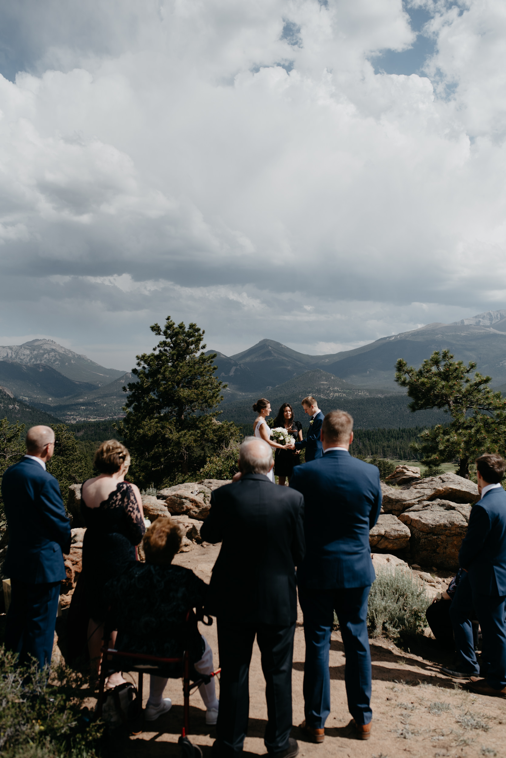 3M Curve wedding ceremony. Rocky Mountain National Park elopement. Colorado wedding and elopement photographer.