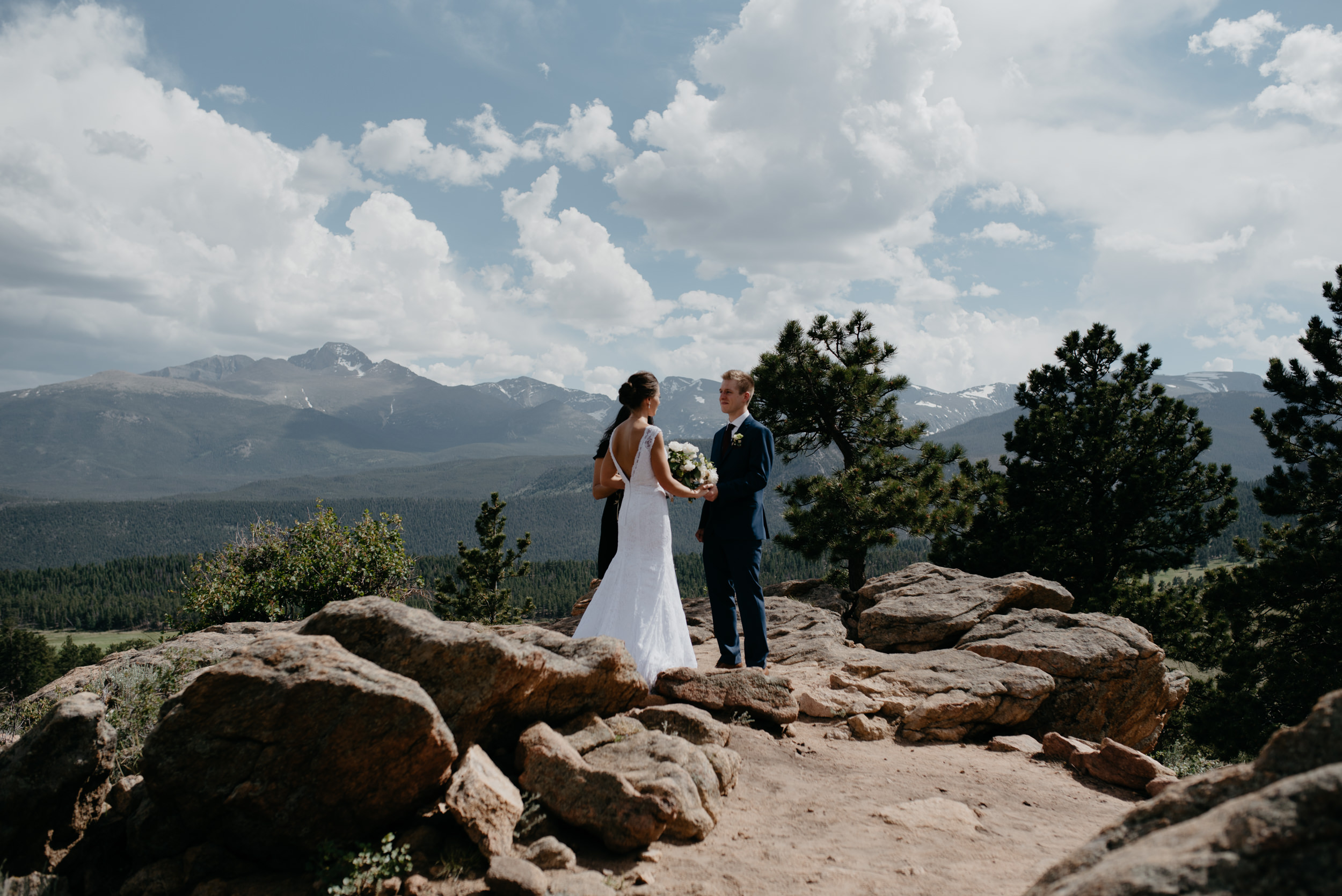 Colorado intimate wedding photographer. 3M curve elopement in Rocky Mountain National Park.