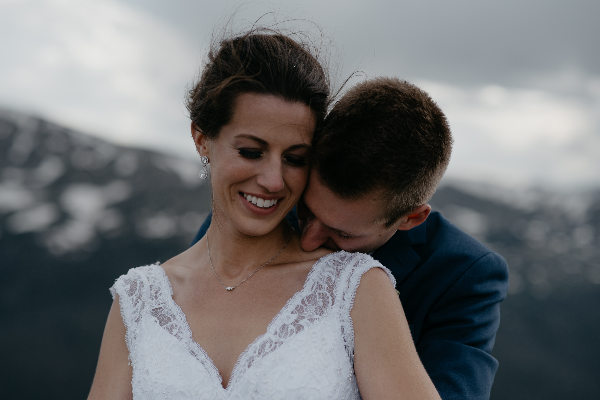 Colorado mountain elopement & wedding photographer. 3M Curve elopement in Rocky Mountain National Park.