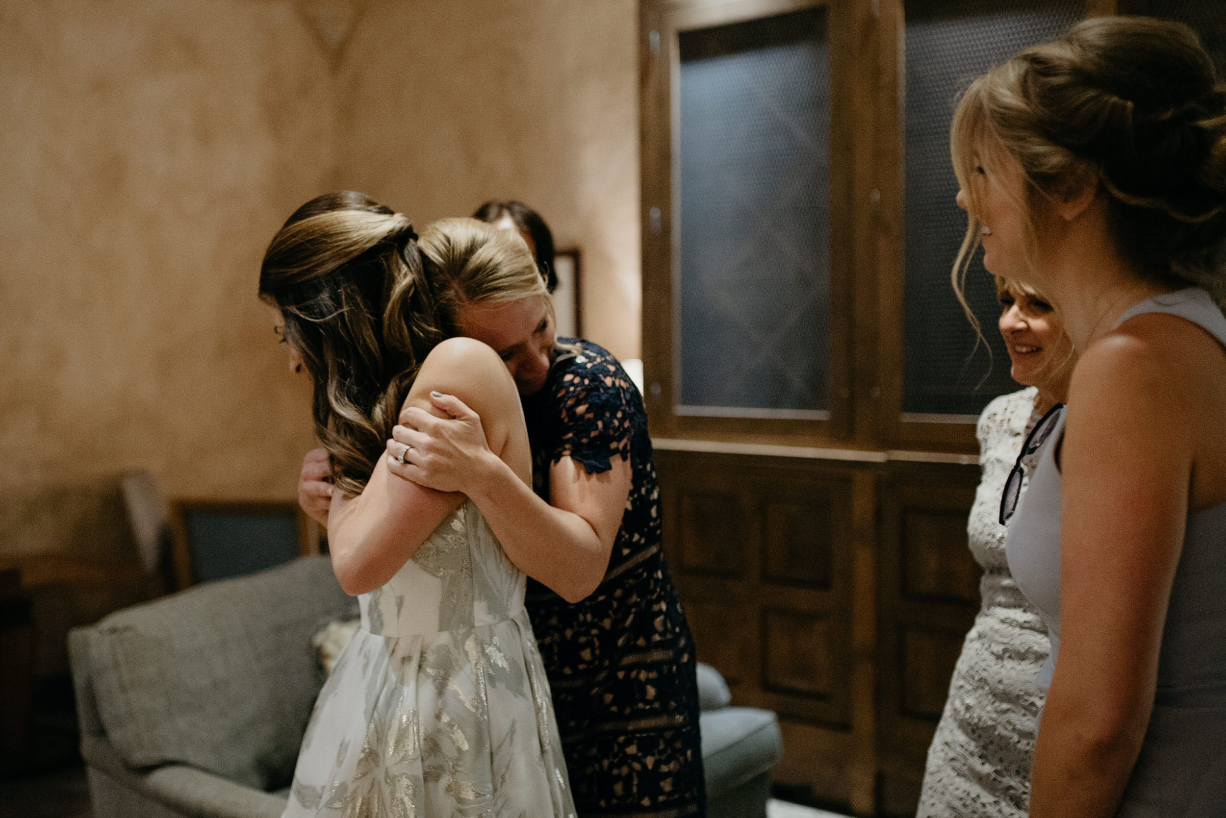 Bridesmaids getting ready. The Little Nell wedding in Aspen, Colorado. Aspen wedding and elopement photographer.