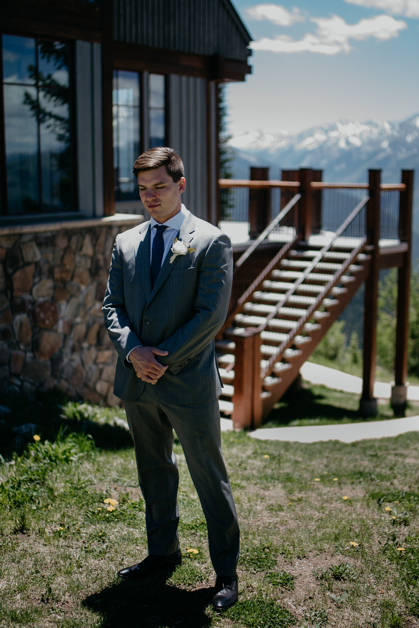 First look at The Little Nell. Aspen, Colorado wedding photographer.