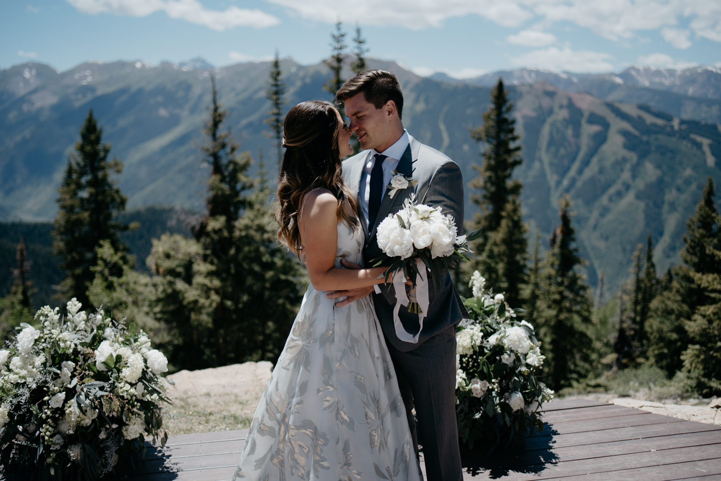 Aspen, Colorado elopement and wedding photographer. The Little Nell wedding.