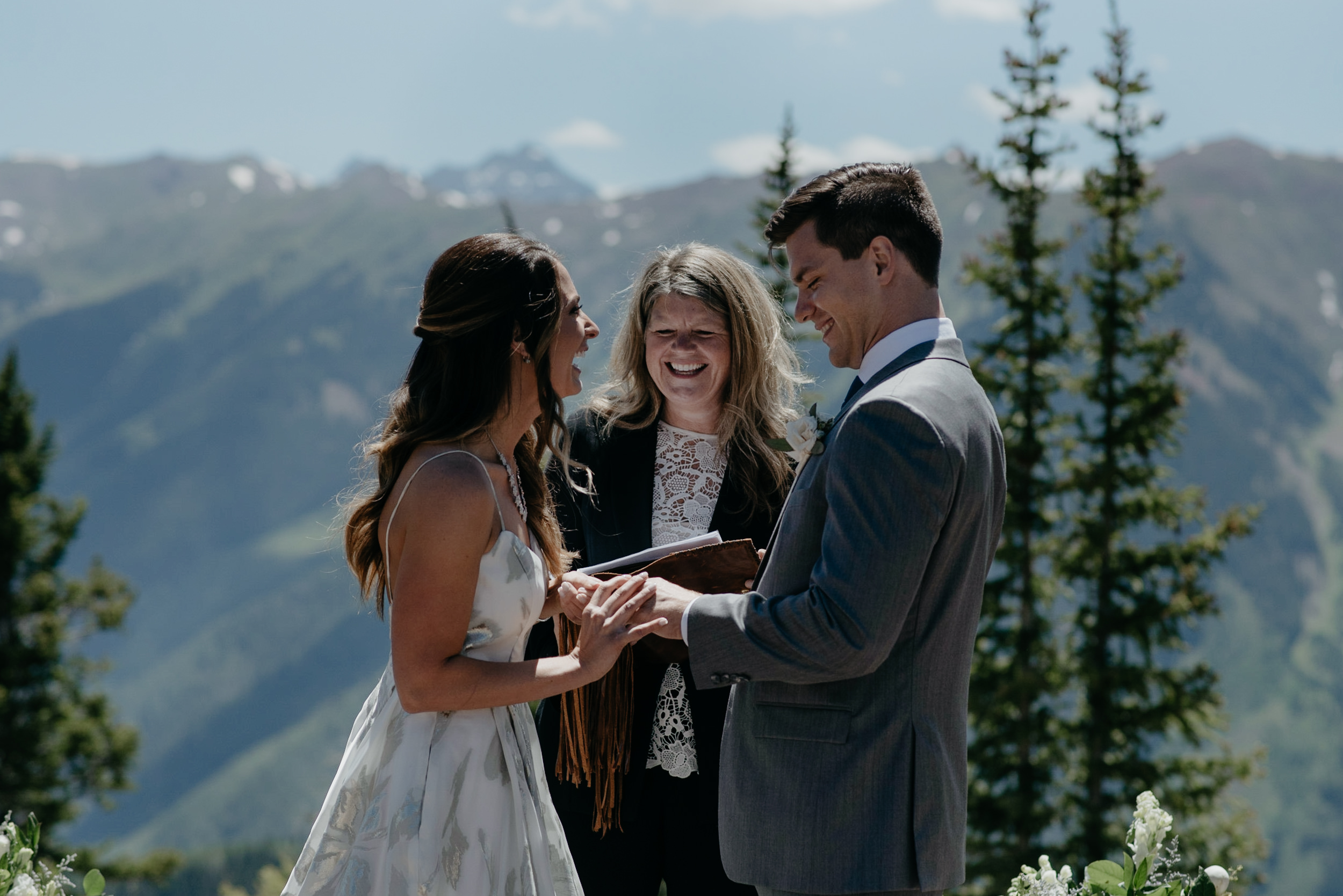 Intimate wedding at The Little Nell in Aspen, Colorado.