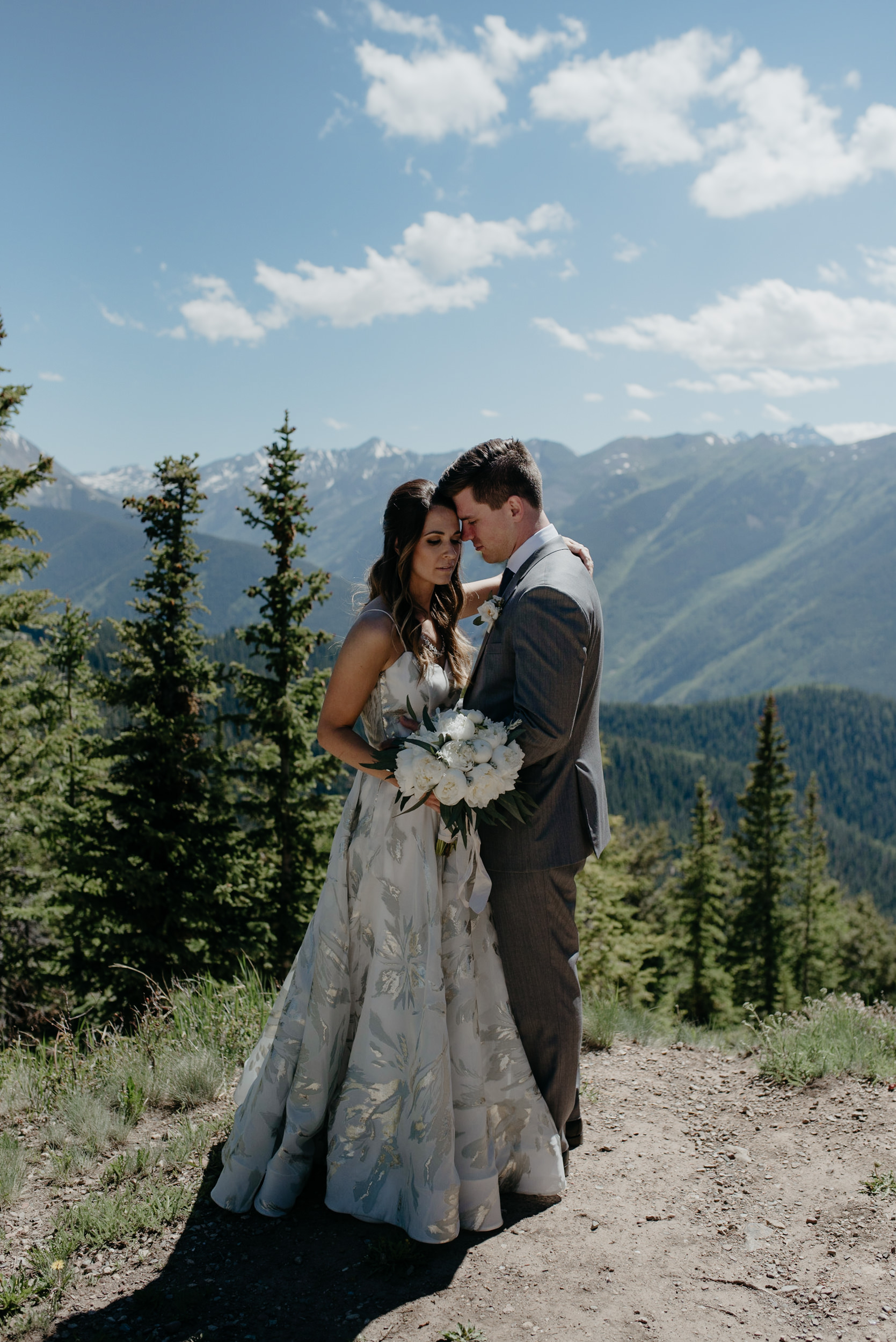 Colorado mountain wedding and elopement photographer. Aspen wedding at The Little Nell.
