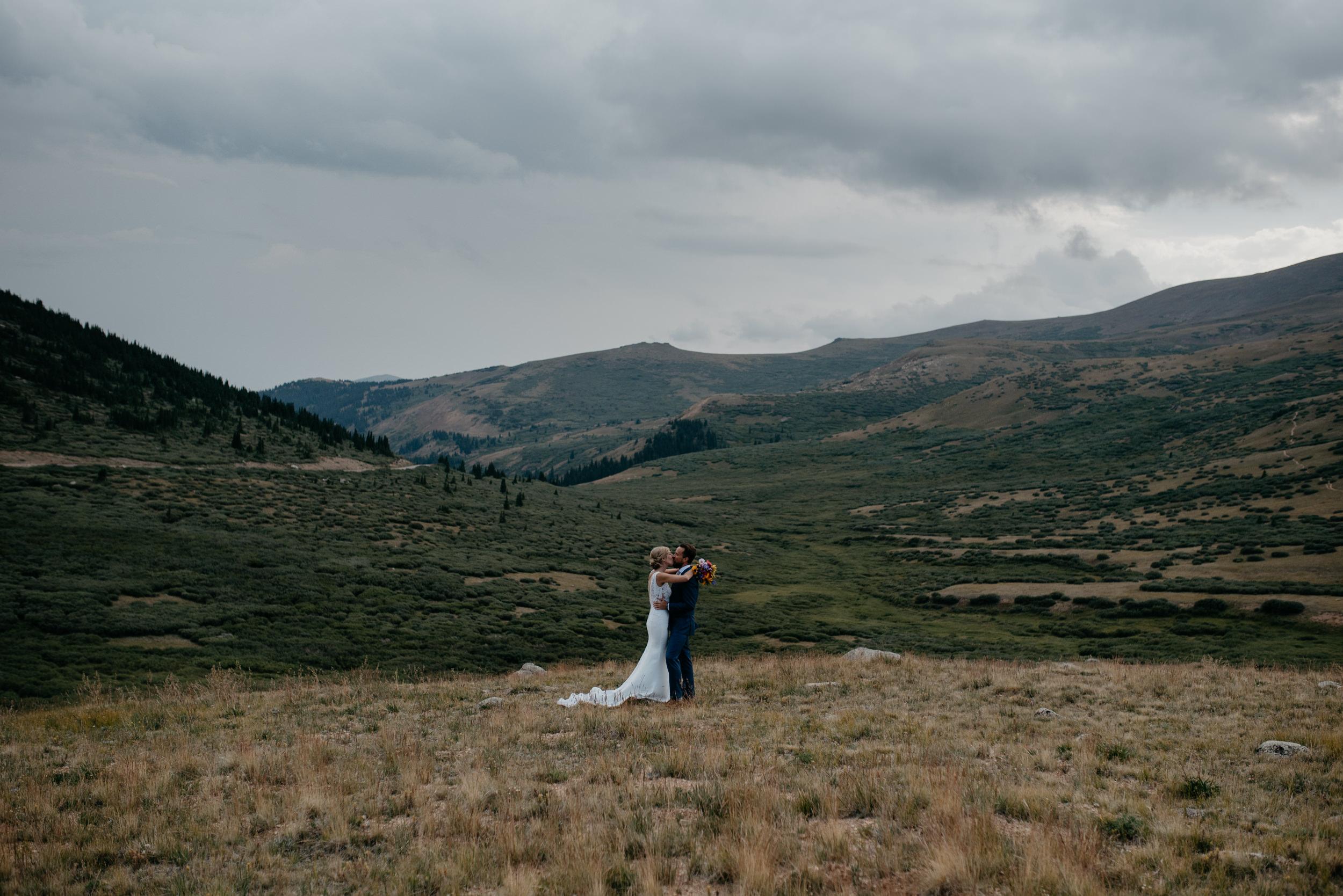 Guanella Pass elopement in Georgetown, Colorado.