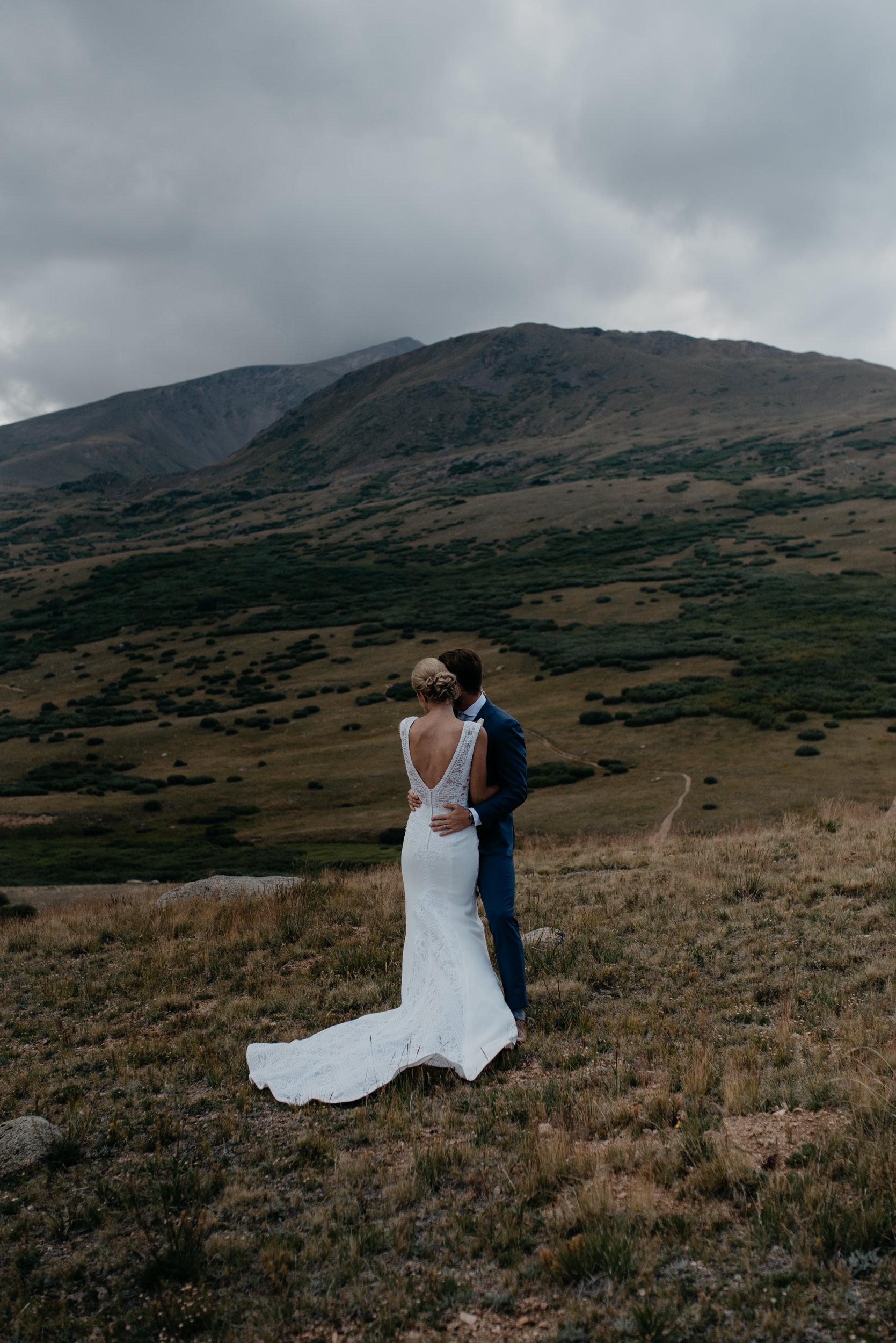 Colorado elopement at Guenella Pass. Colorado based elopement and wedding photographer. Colorado adventure elopement in Georgetown.