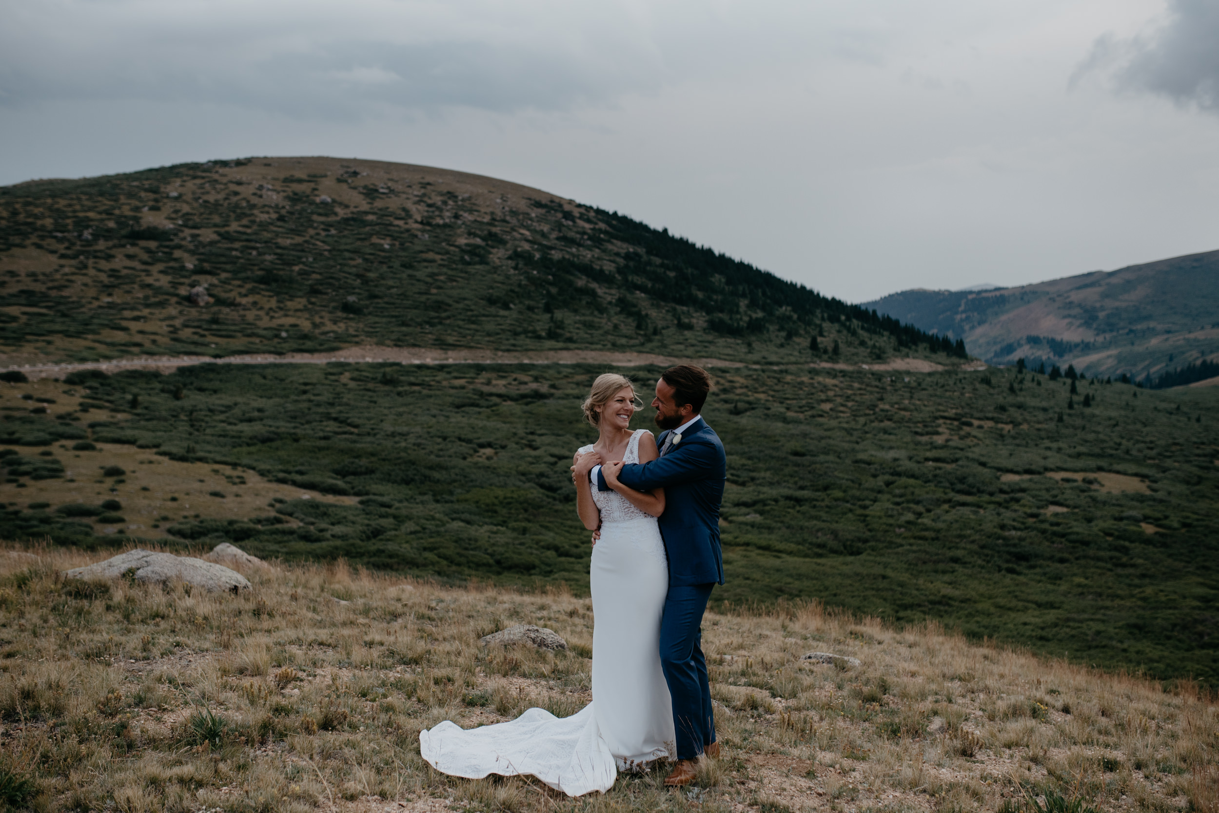 Guanella Pass in Colorado. Colorado intimate wedding photographer