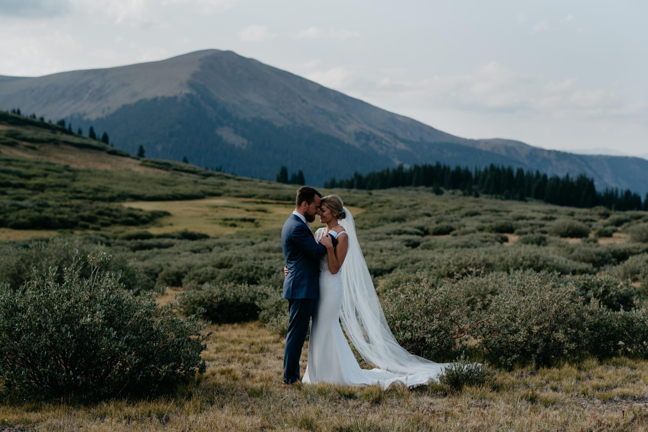 Colorado mountain wedding inspiration. Colorado elopement photographer.