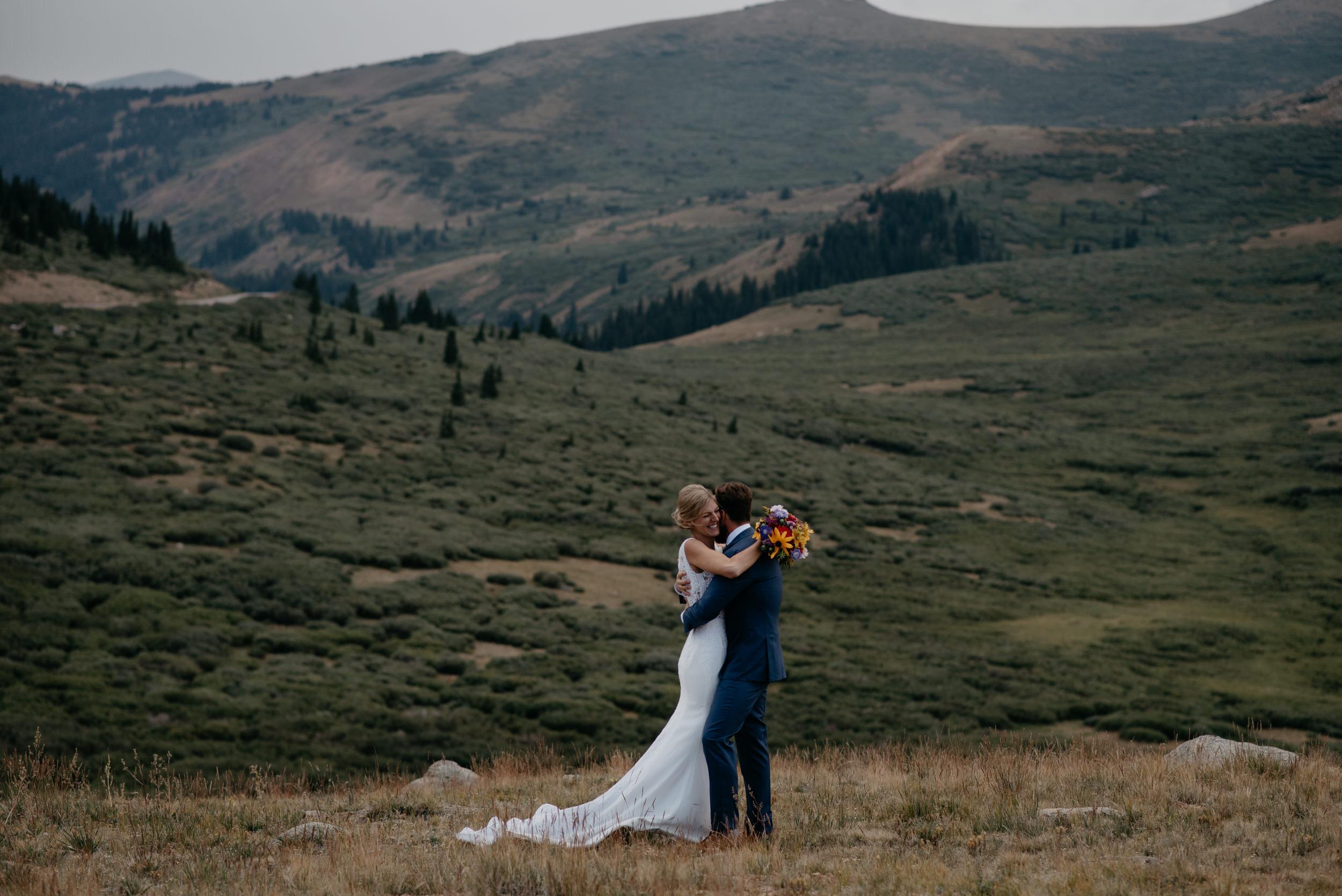 Colorado mountain elopement and wedding photography