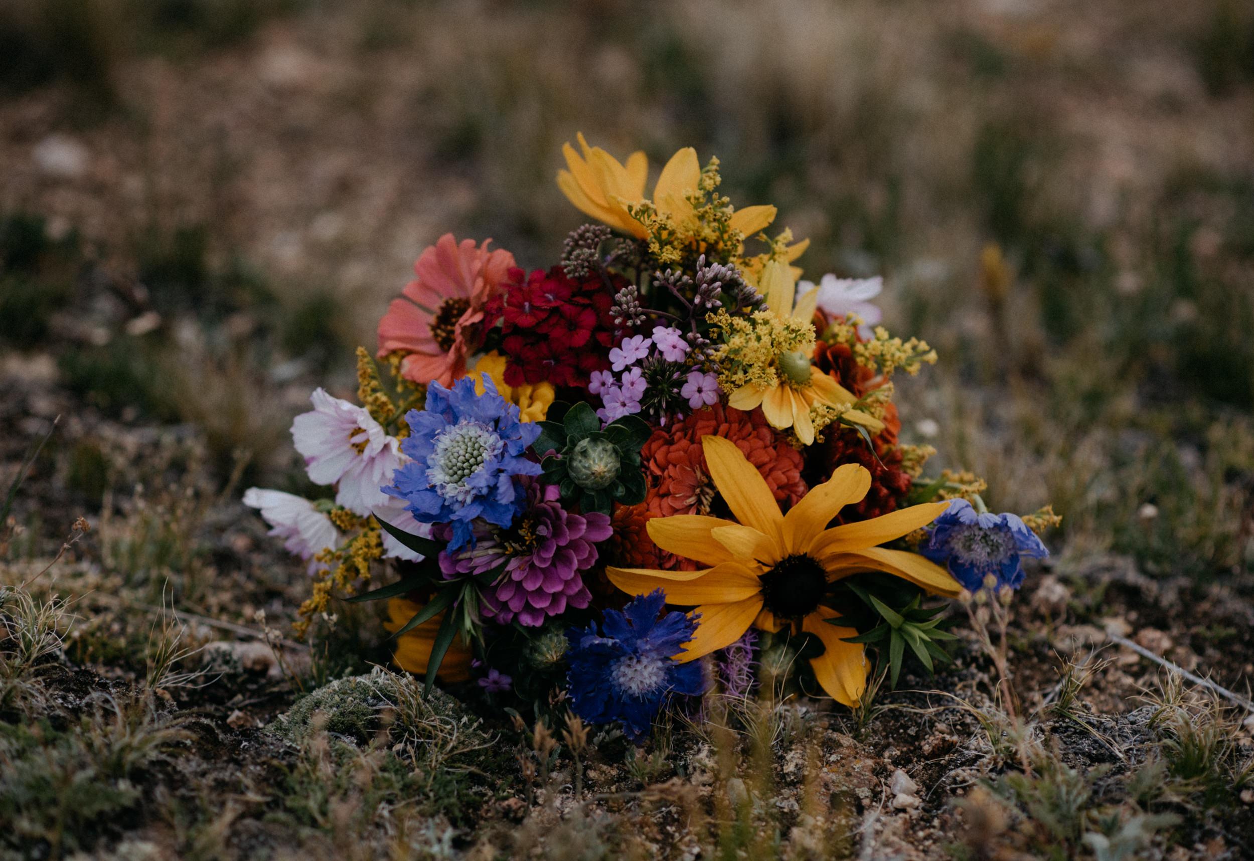 Bridal bouquet for a Guanella Pass elopement