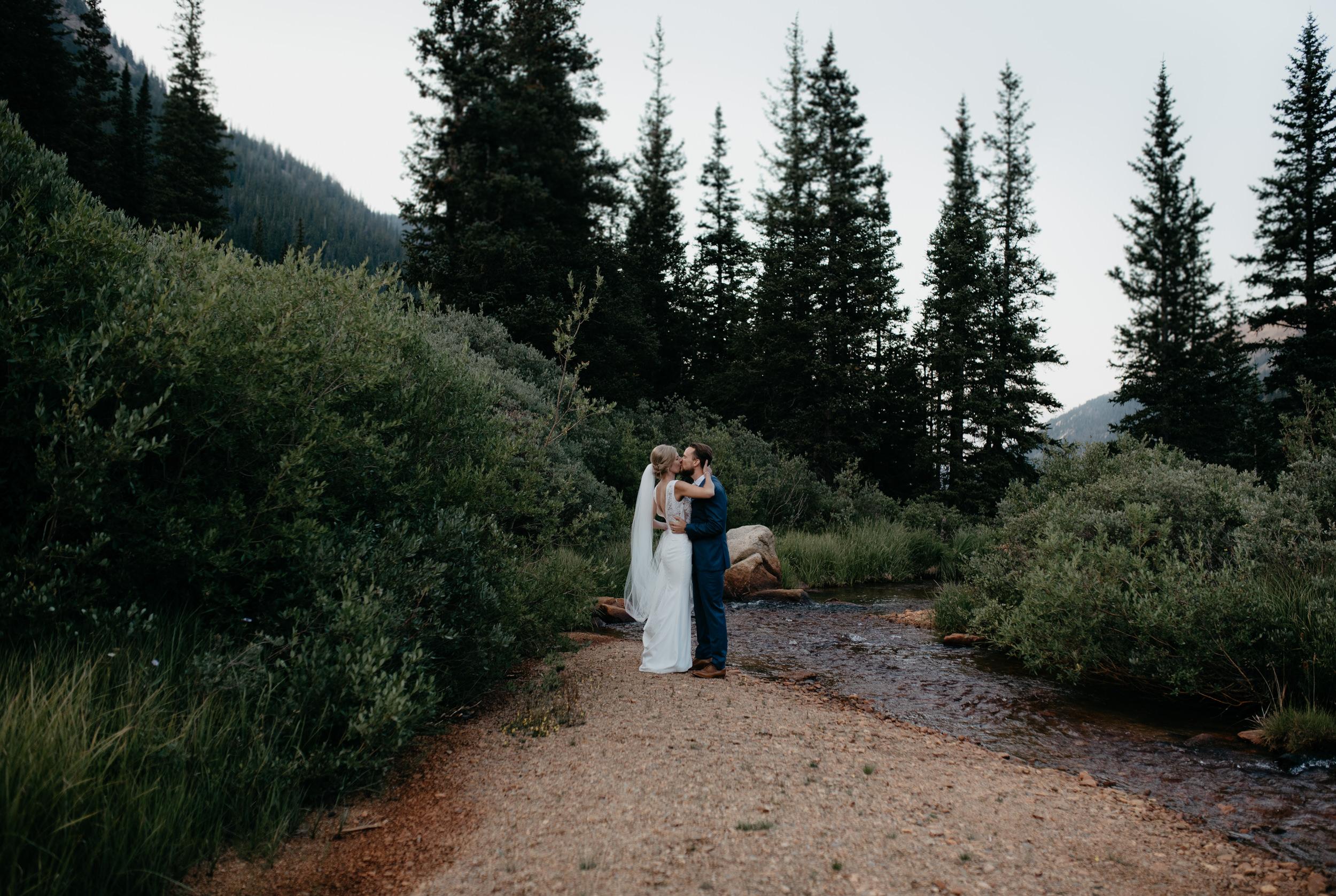 Colorado elopement at Guanella Pass. Colorado adventure wedding photographer.