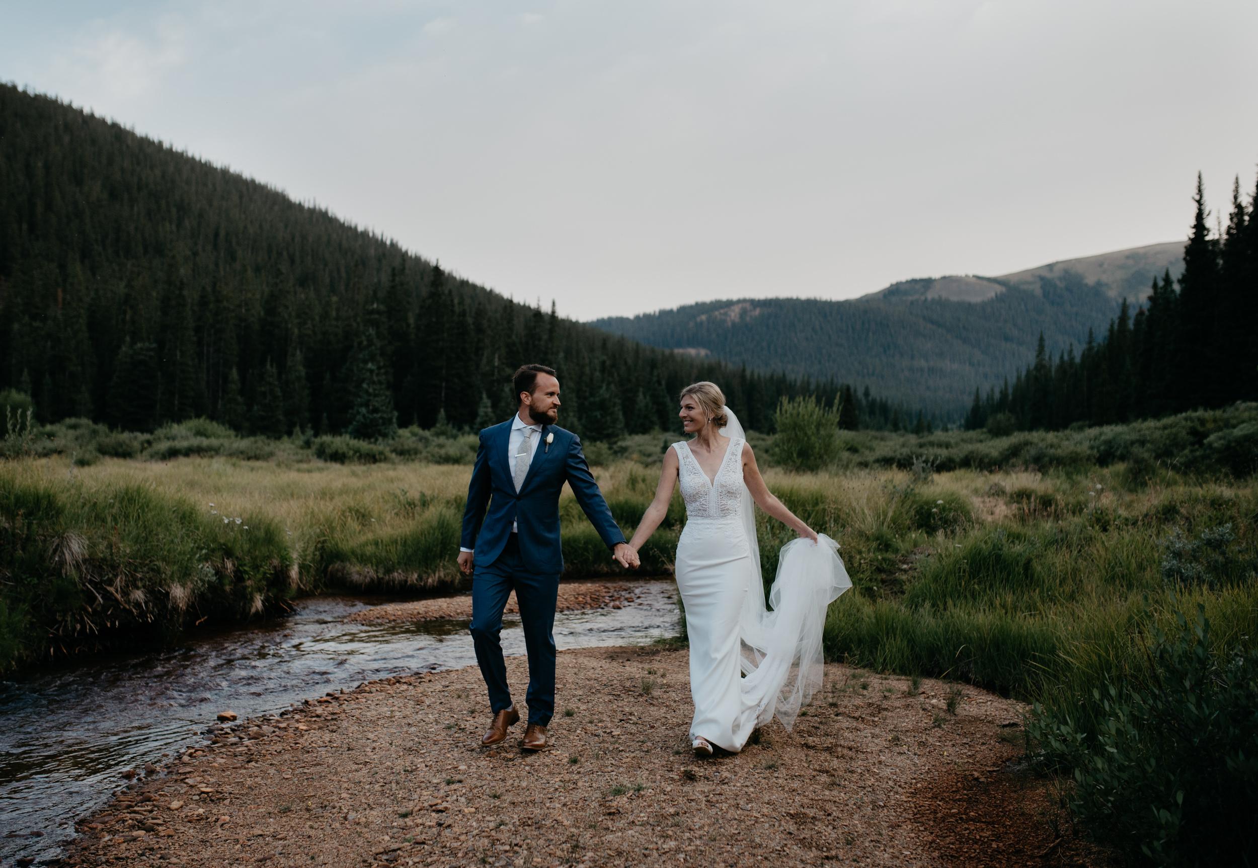 Colorado intimate wedding photographer. Elopement at Guanella Pass in Colorado.