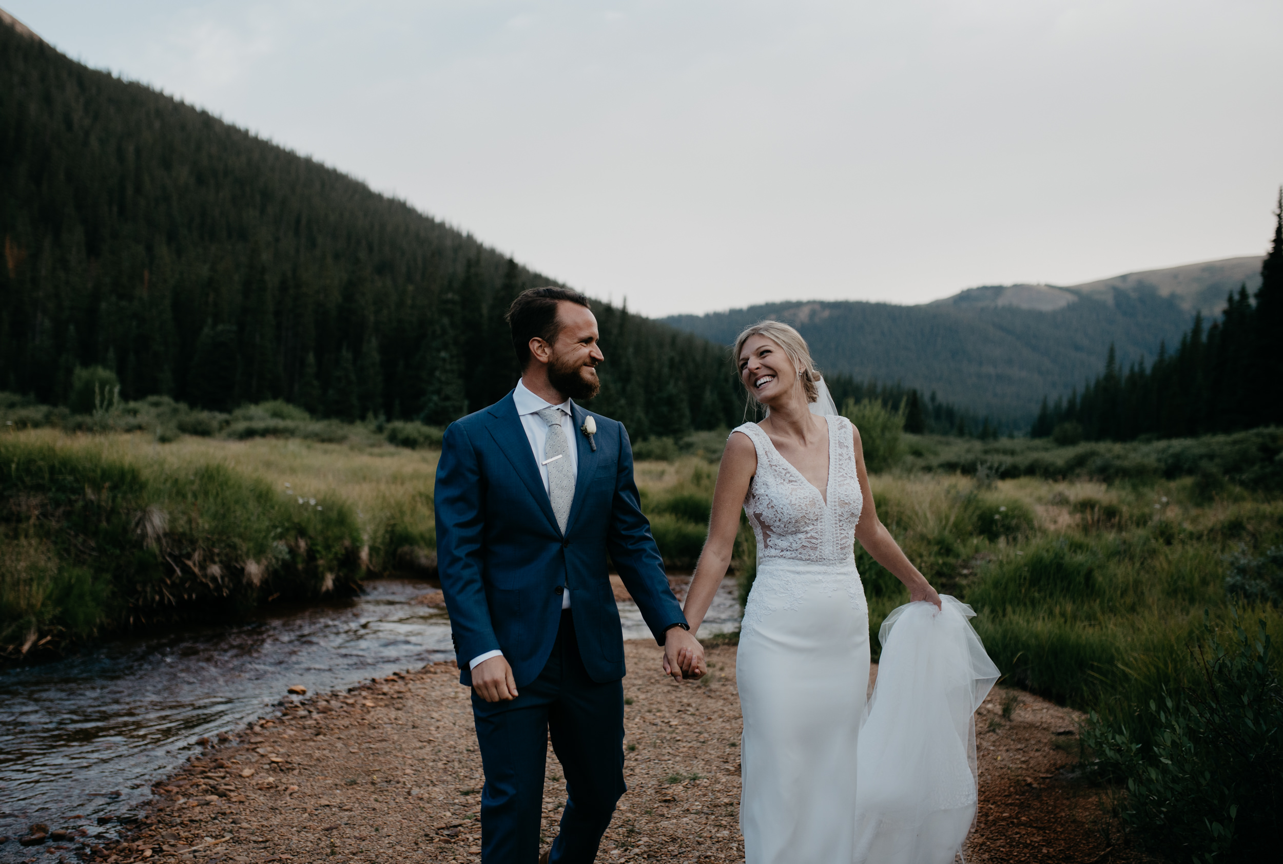 Intimate wedding in Georgetown, Colorado at Guanella Pass.