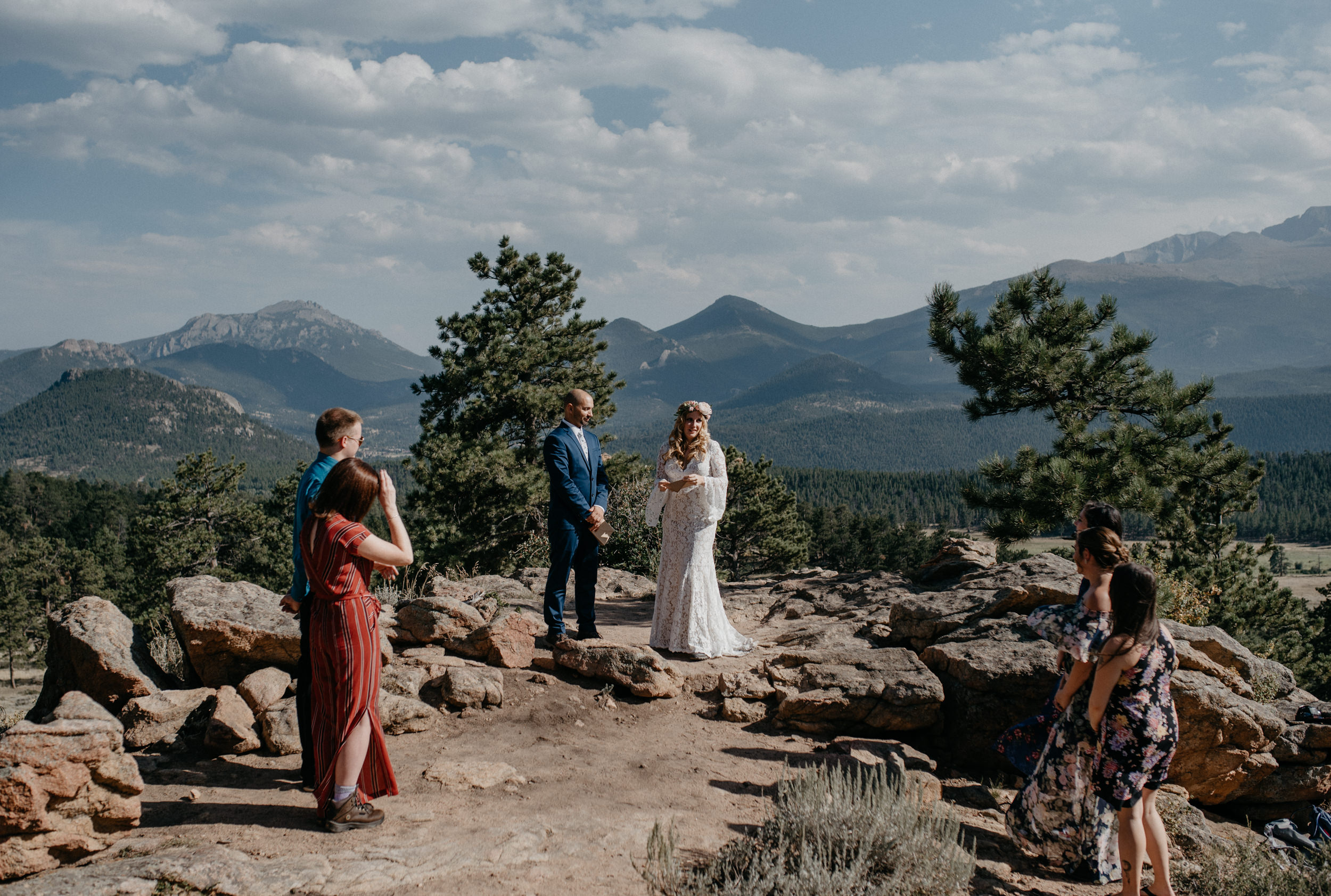 Ceremony at a Rocky Mountain National Park elopement