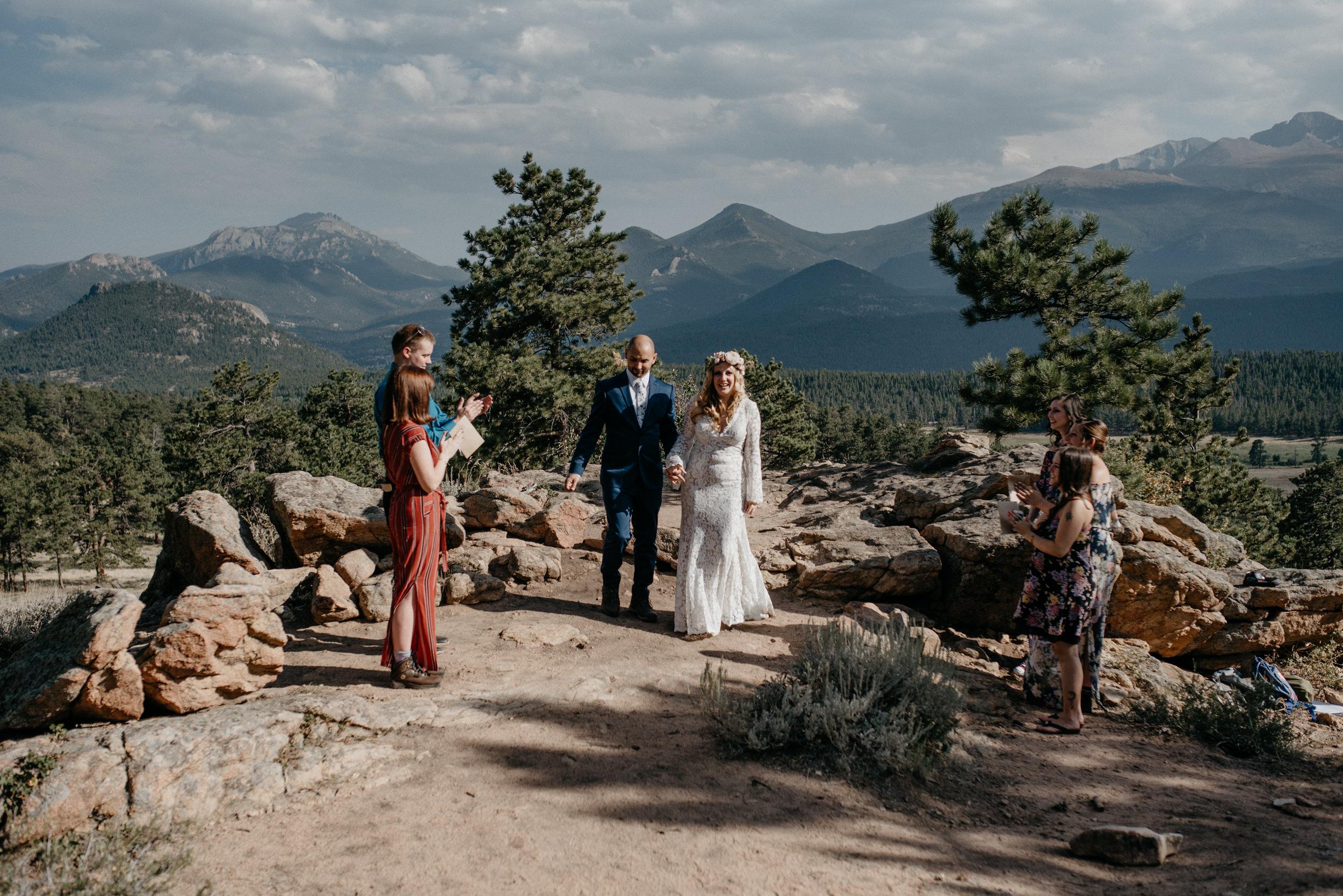 Rocky Mountain National Park elopement at 3M curve photos
