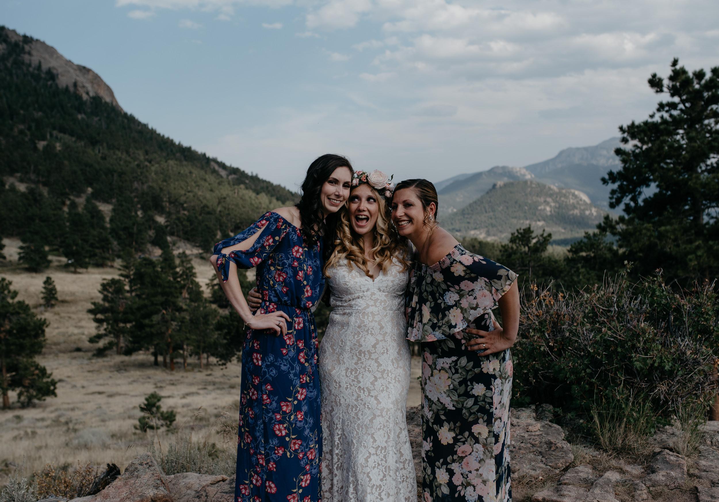 Family photos at an elopement in Rocky Mountain National Park. Estes Park, Colorado wedding photographer.
