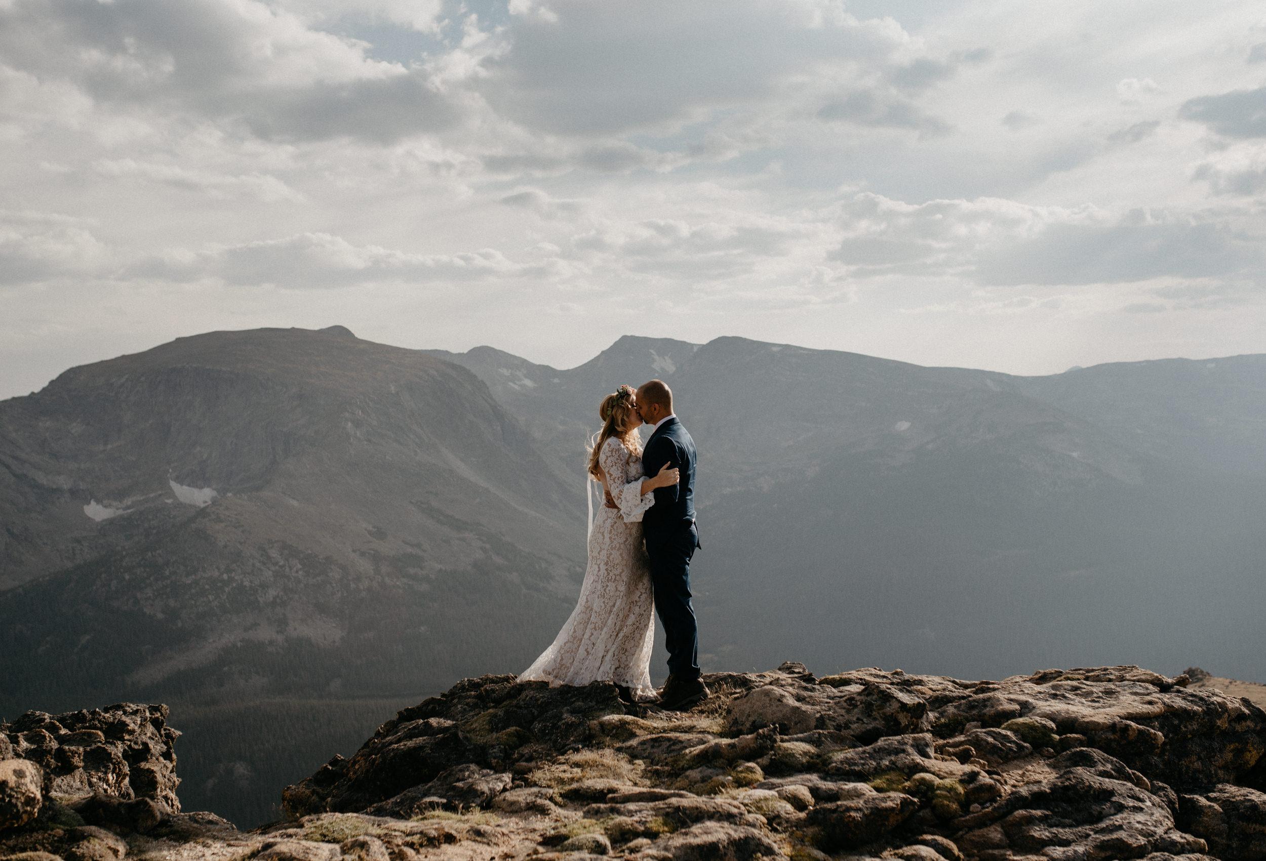 Denver, Colorado based intimate wedding photographer. Rocky Mountain National Park elopement.