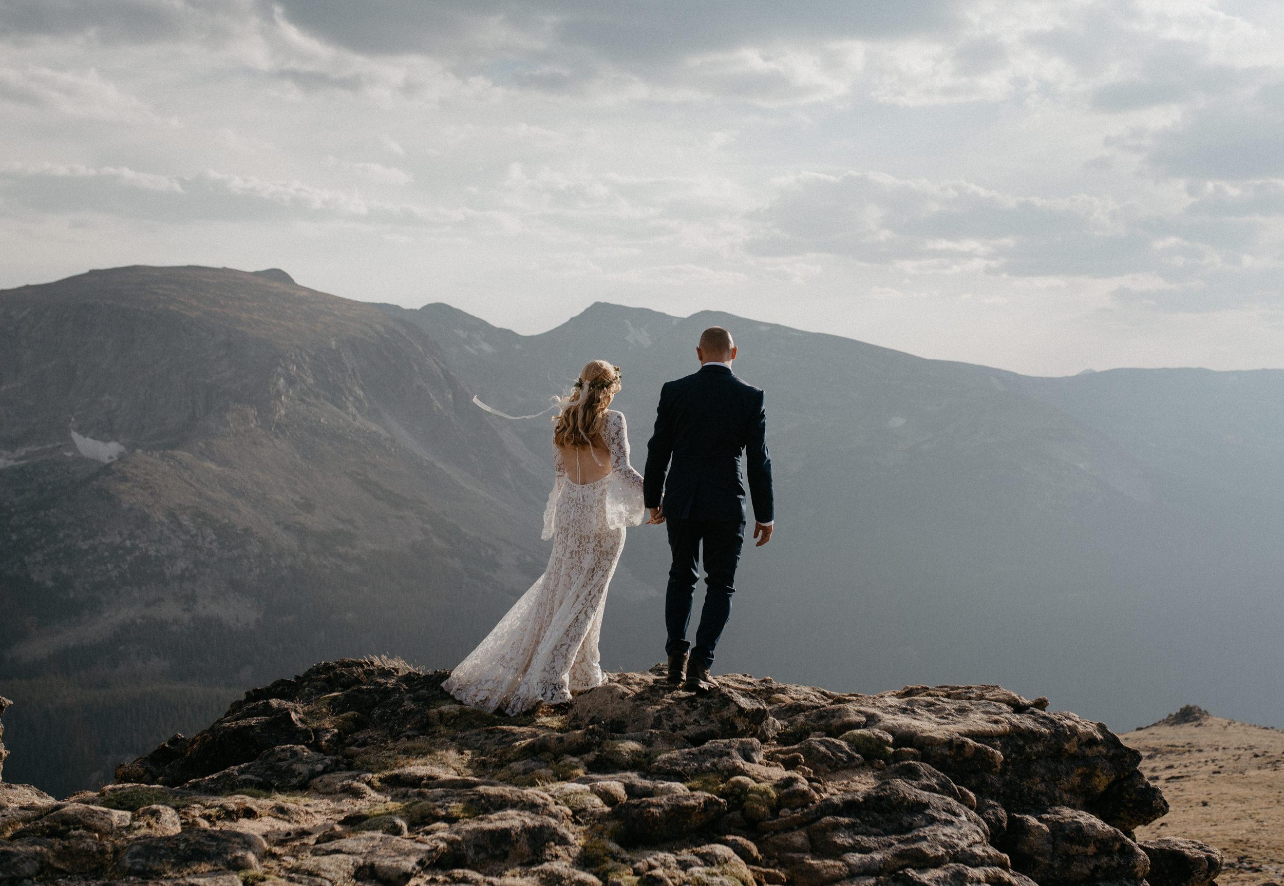 Rocky Mountain adventure elopement. Colorado elopement photography.