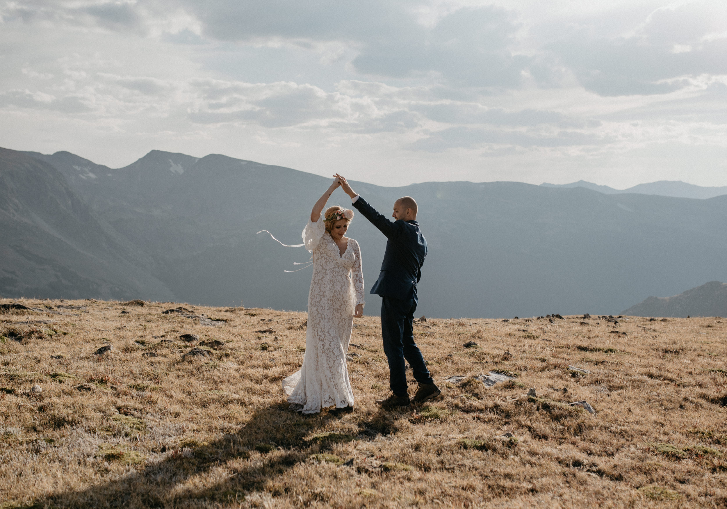 Colorado based adventure mountain elopement and wedding photographer.