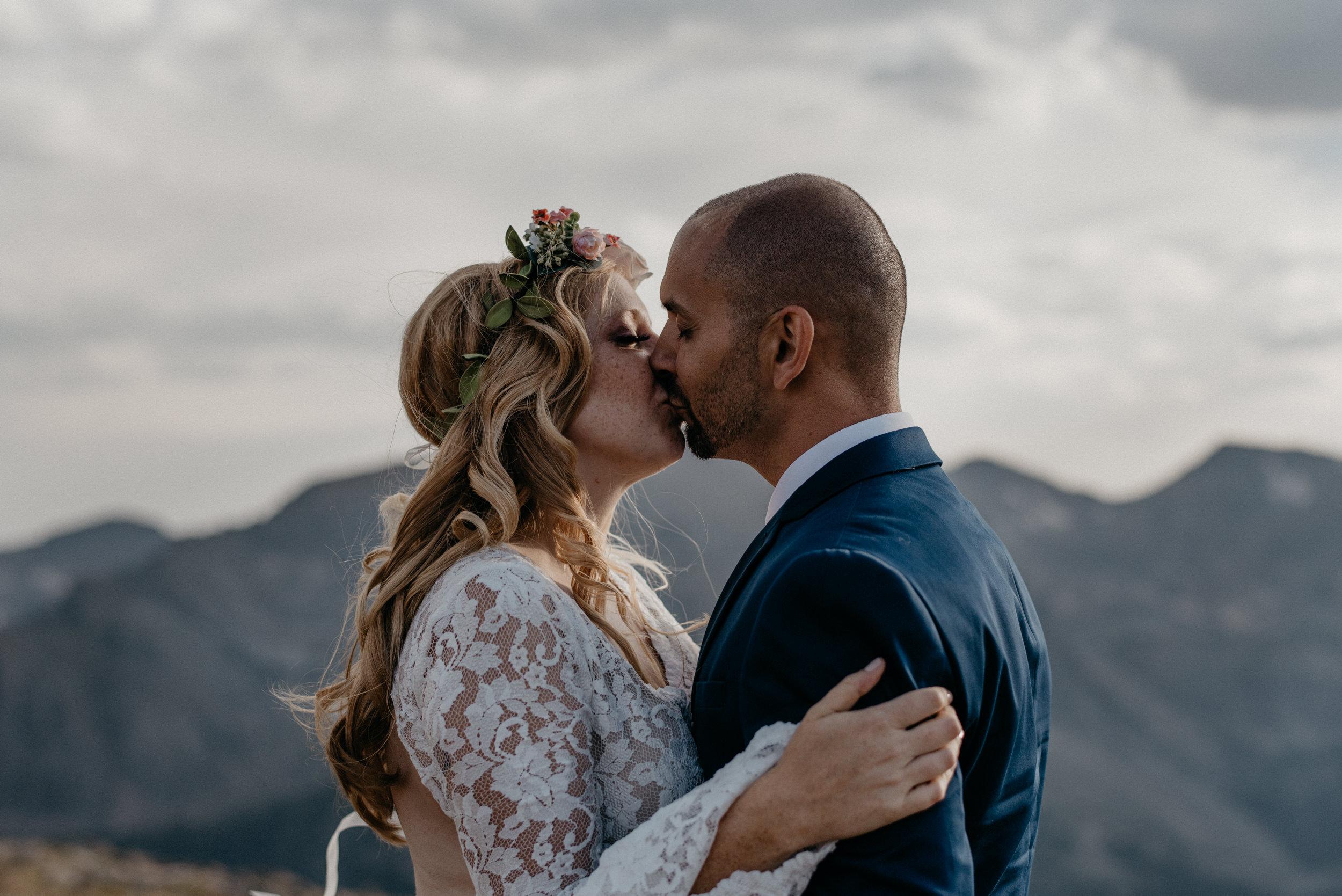 Colorado boho wedding photographer. Epic adventure elopement in Rocky Mountain National Park.