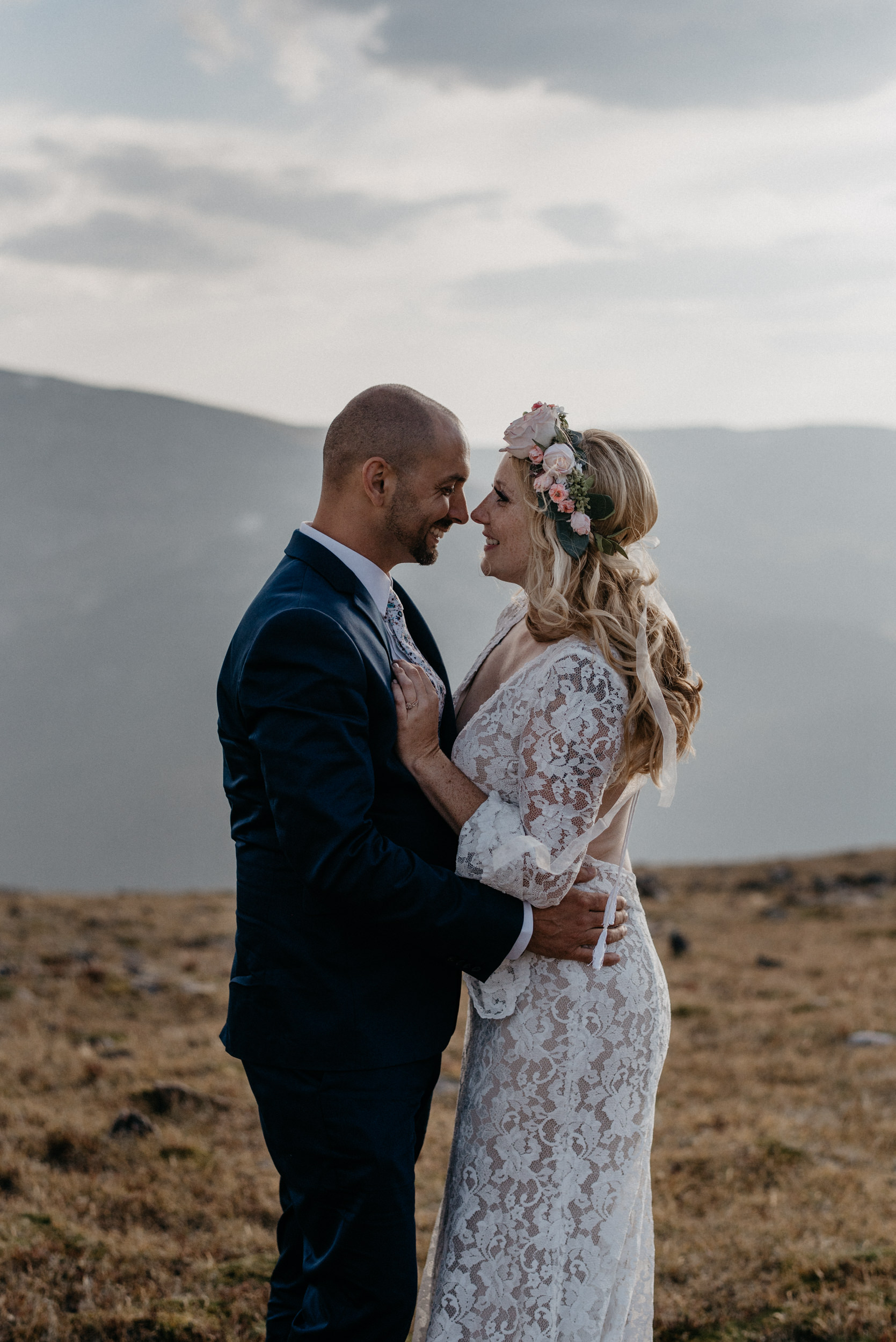 Trail Ridge Road elopement photos in Rocky Mountain National Park.