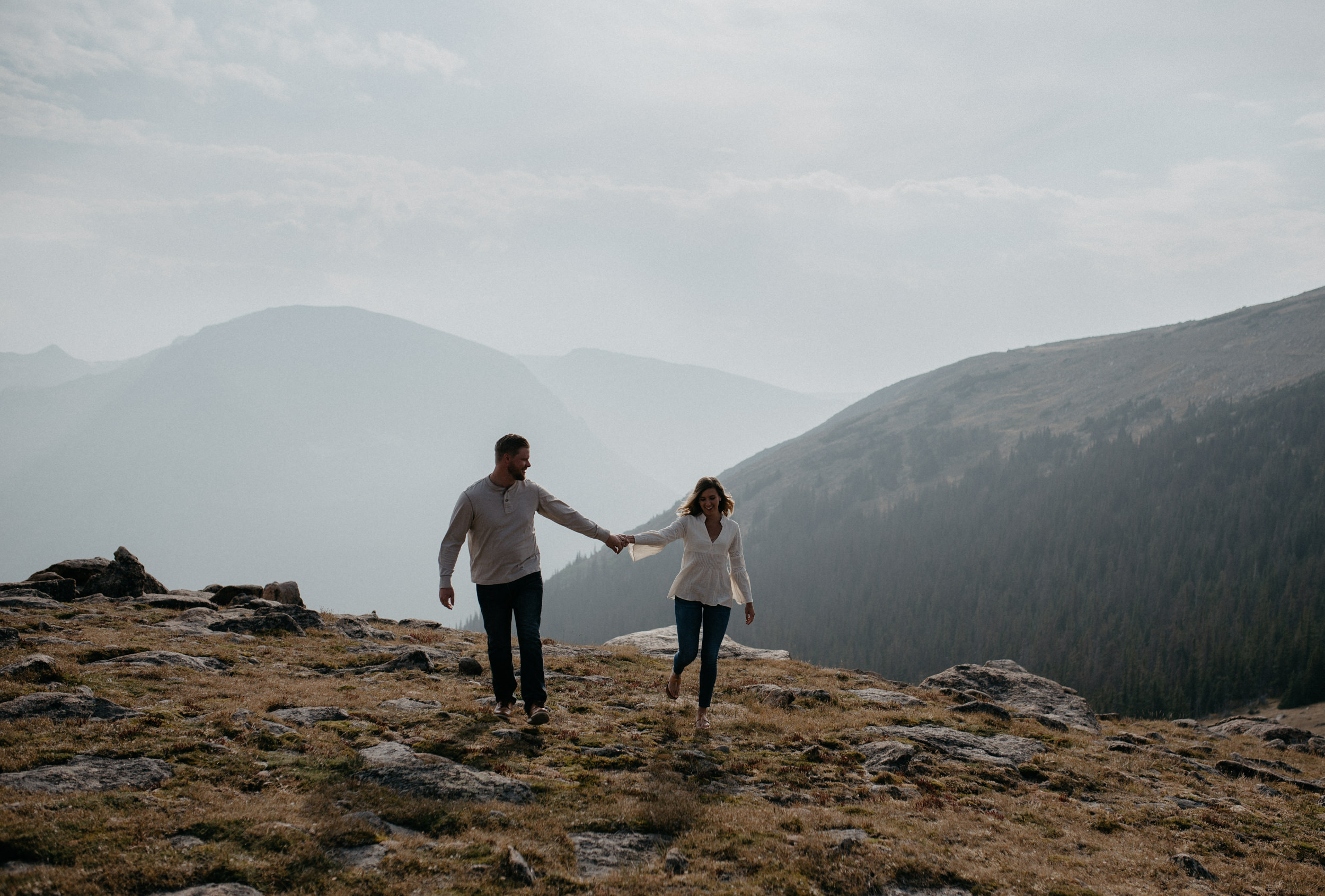 Rocky Mountain National Park adventure engagement photography. Colorado elopement and wedding photography.