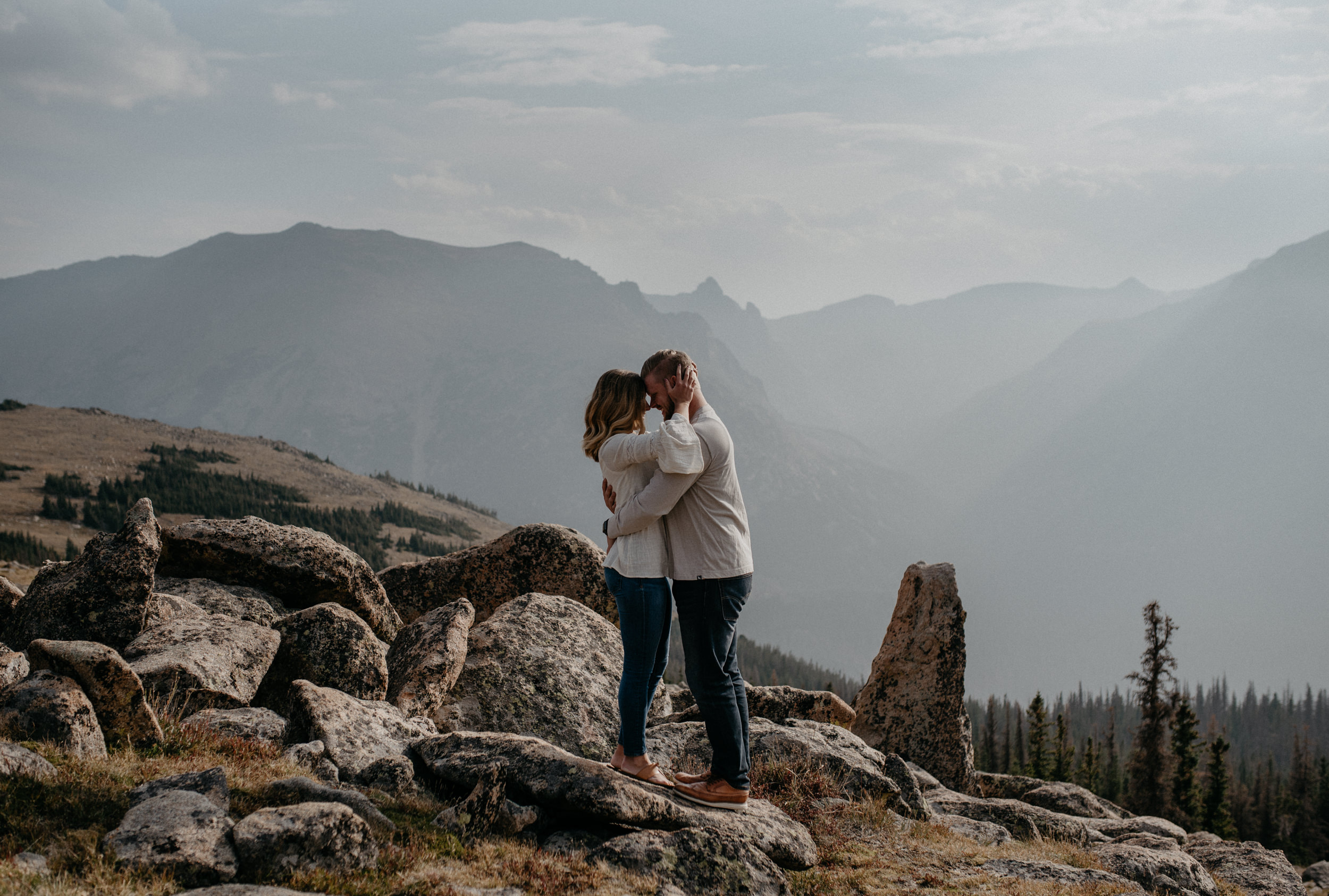 Rocky Mountain National Park engagement photography. Colorado wedding and elopement photos.