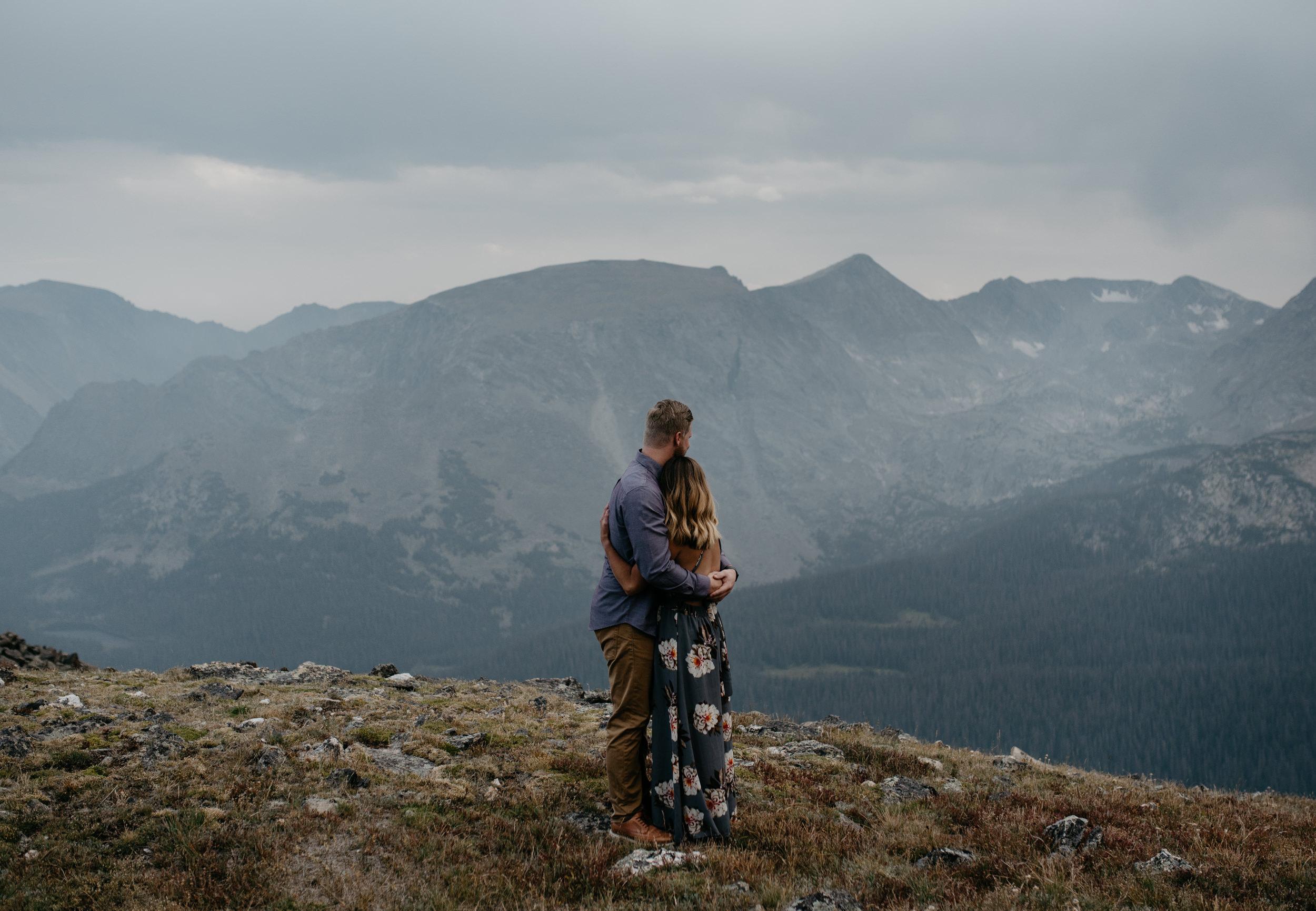 Colorado wedding photographer. Colorado mountaintop elopement photos in Rocky Mountain National Park.