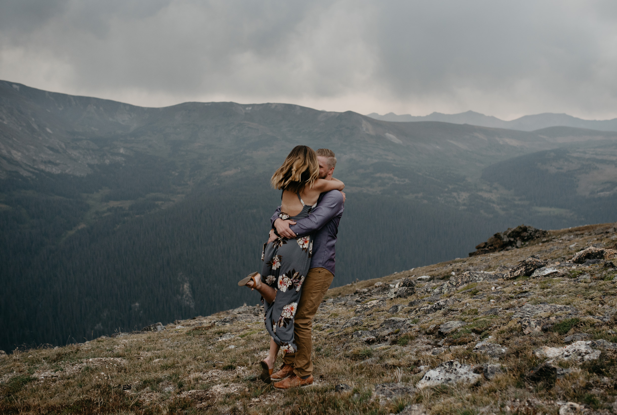 Mountaintop elopement in the Rocky Mountains. Colorado wedding and elopement photographer.