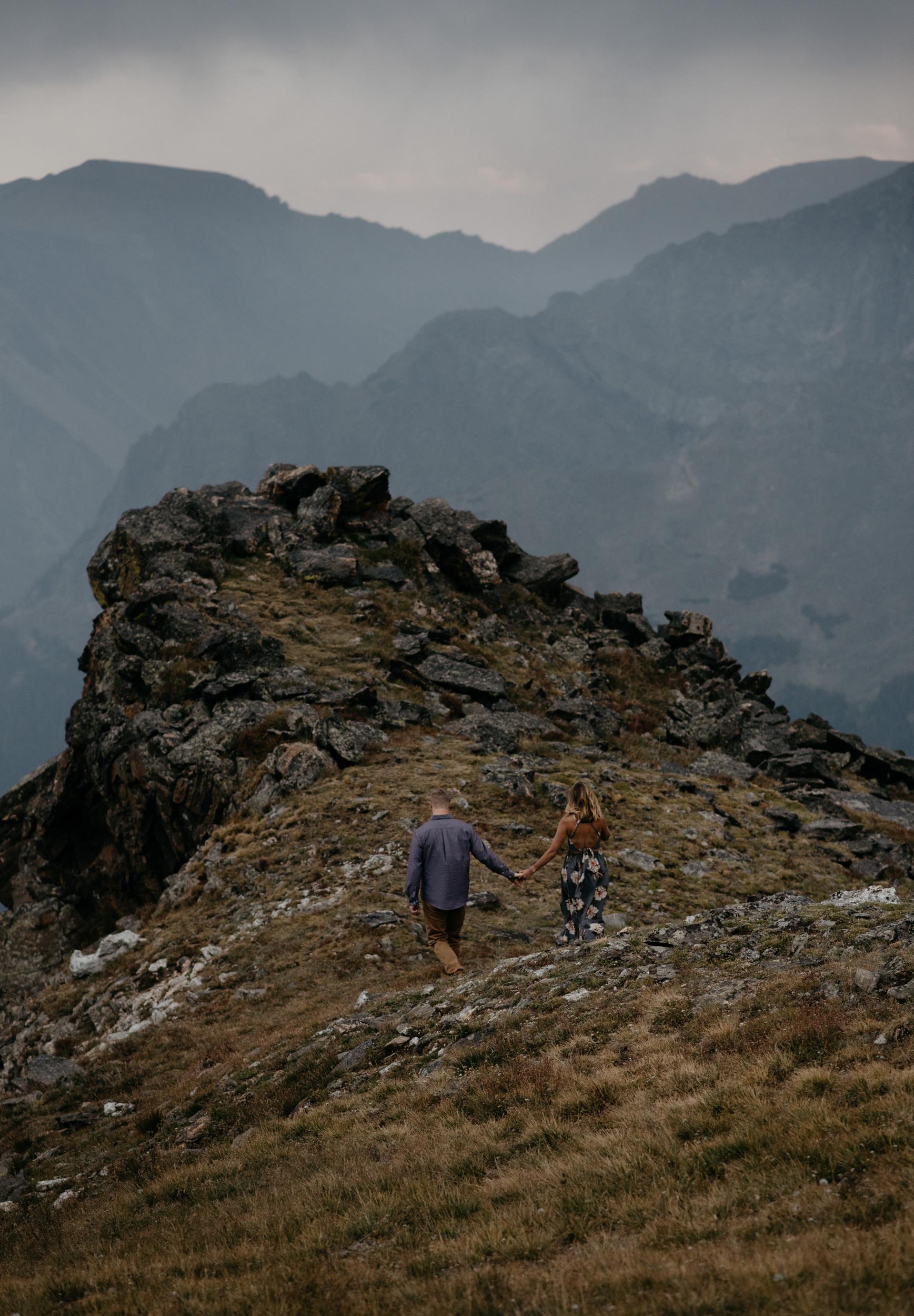 Mountaintop elopement photos in Colorado. Denver elopement and wedding photographer.