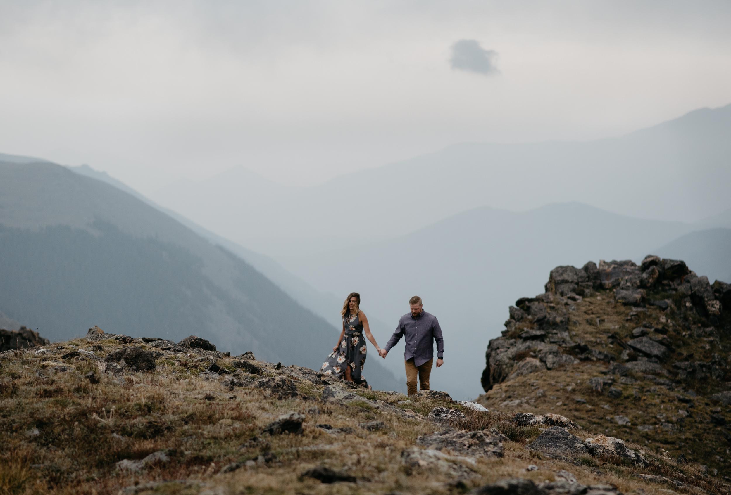 Rocky Mountain National Park adventure elopement photographer. Colorado wedding photographer.